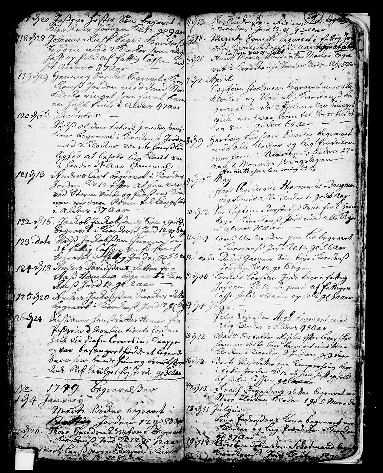 SAKO, Skien kirkebøker, F/Fa/L0002: Ministerialbok nr. 2, 1716-1757, s. 227