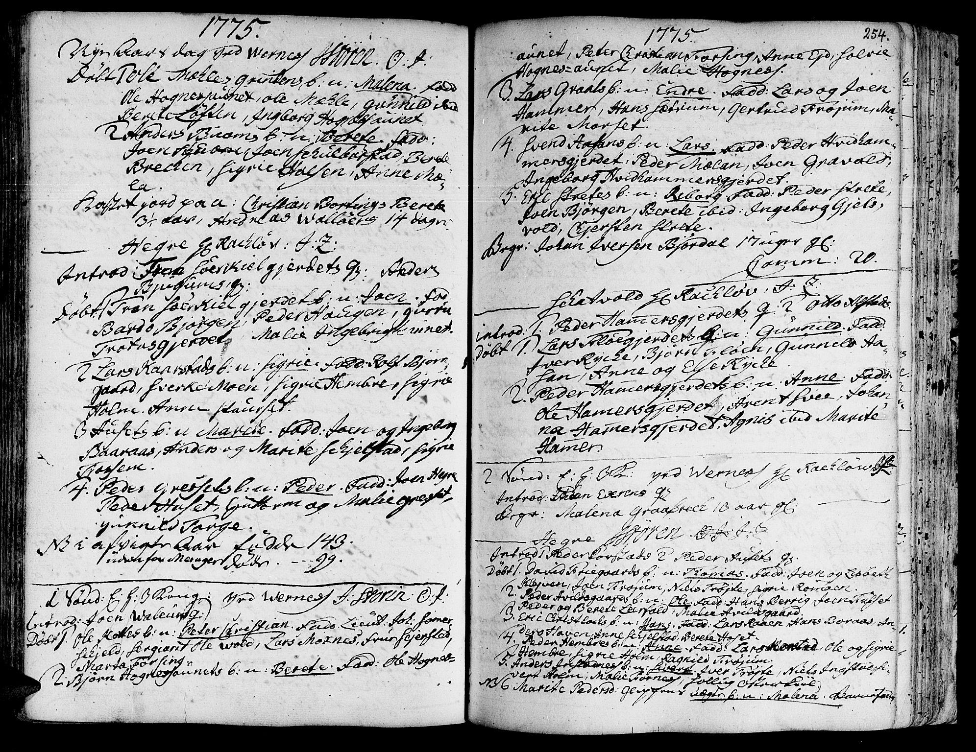SAT, Ministerialprotokoller, klokkerbøker og fødselsregistre - Nord-Trøndelag, 709/L0057: Ministerialbok nr. 709A05, 1755-1780, s. 254