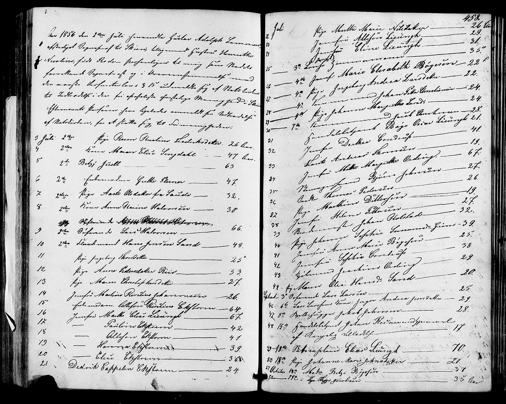 SAKO, Skien kirkebøker, F/Fa/L0007: Ministerialbok nr. 7, 1856-1865, s. 458