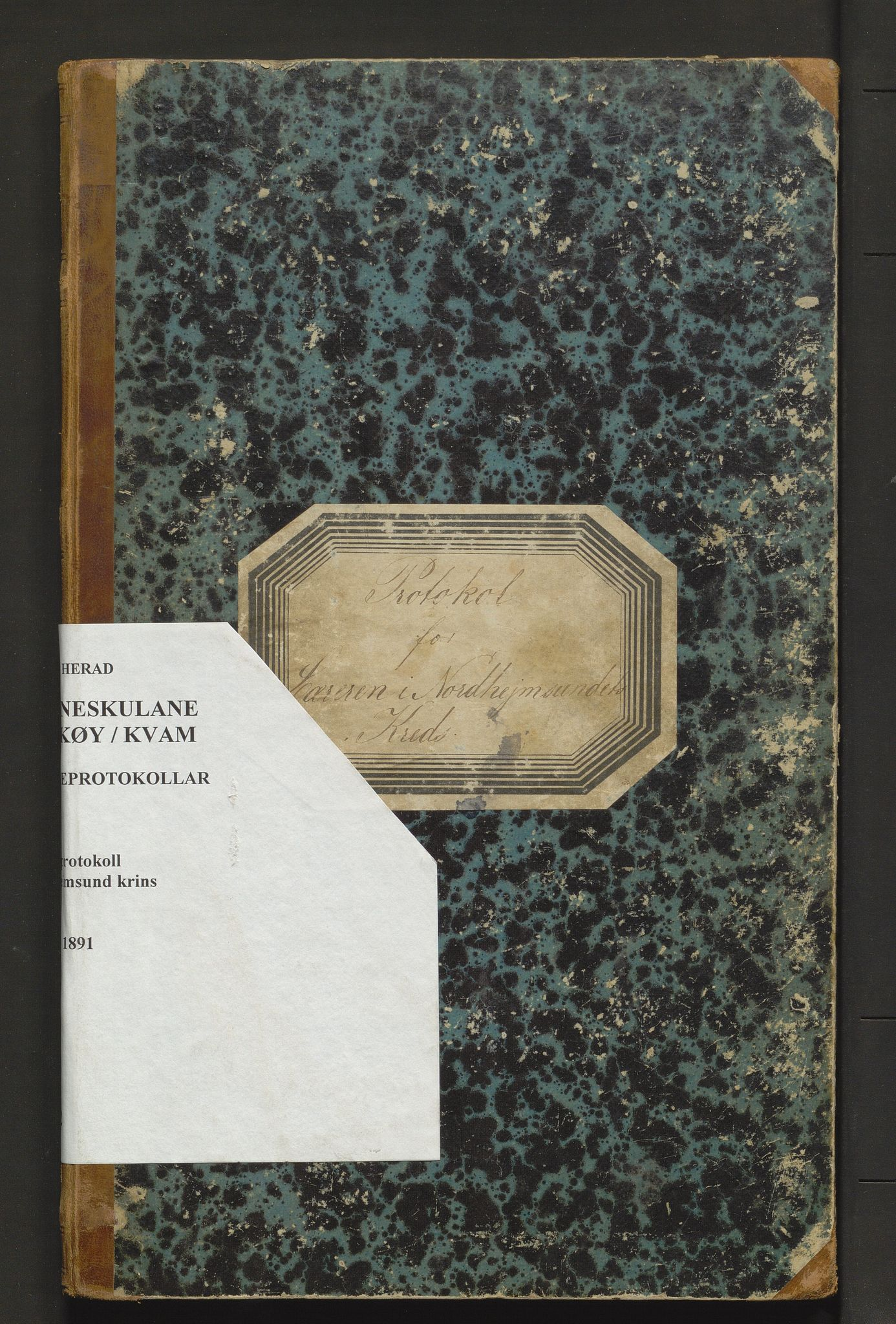 IKAH, Kvam herad. Barneskulane, F/Fa/L0002: Skuleprotokoll for Norheimsund krins, 1878-1891