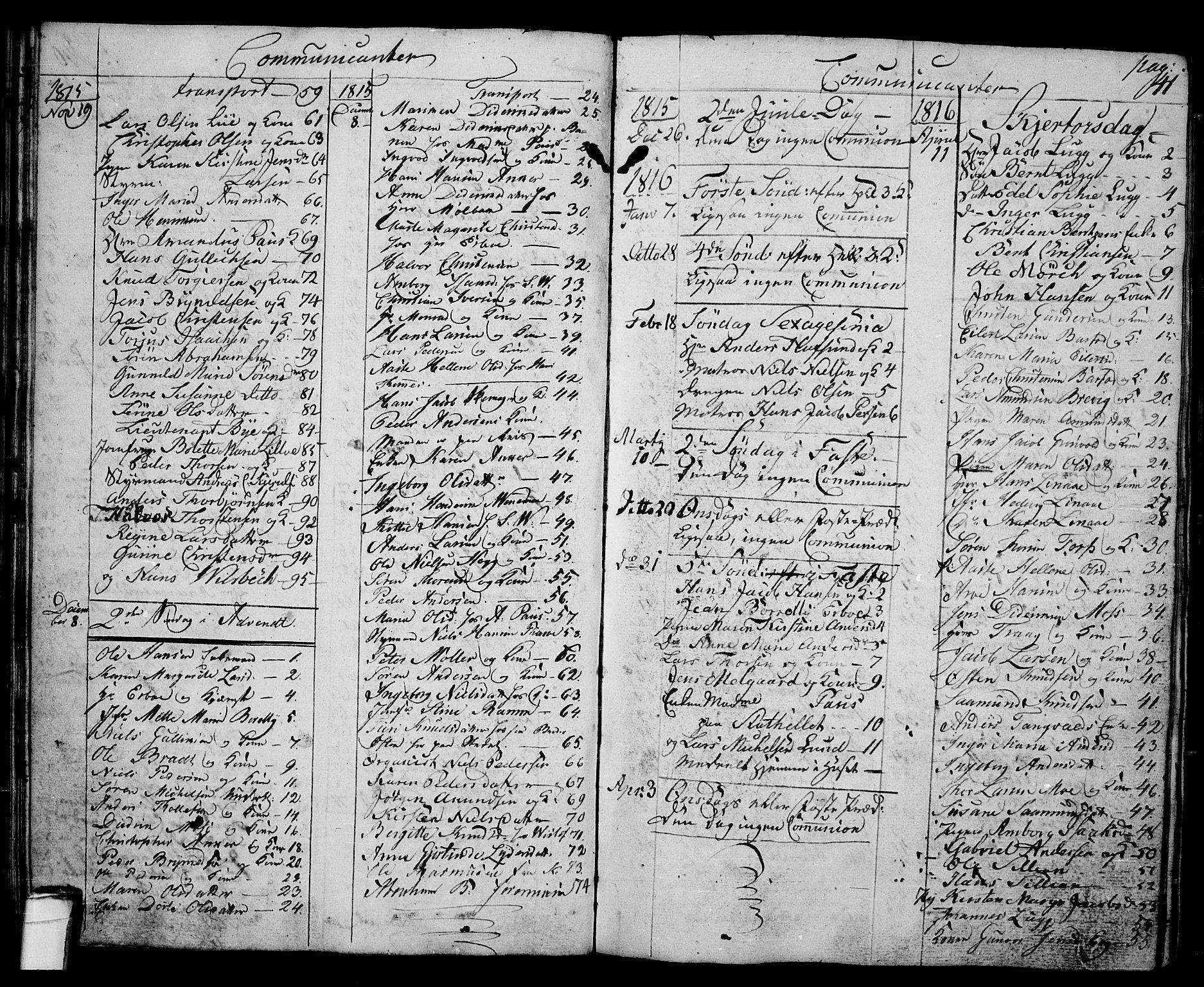 SAKO, Langesund kirkebøker, G/Ga/L0002: Klokkerbok nr. 2, 1801-1815, s. 41