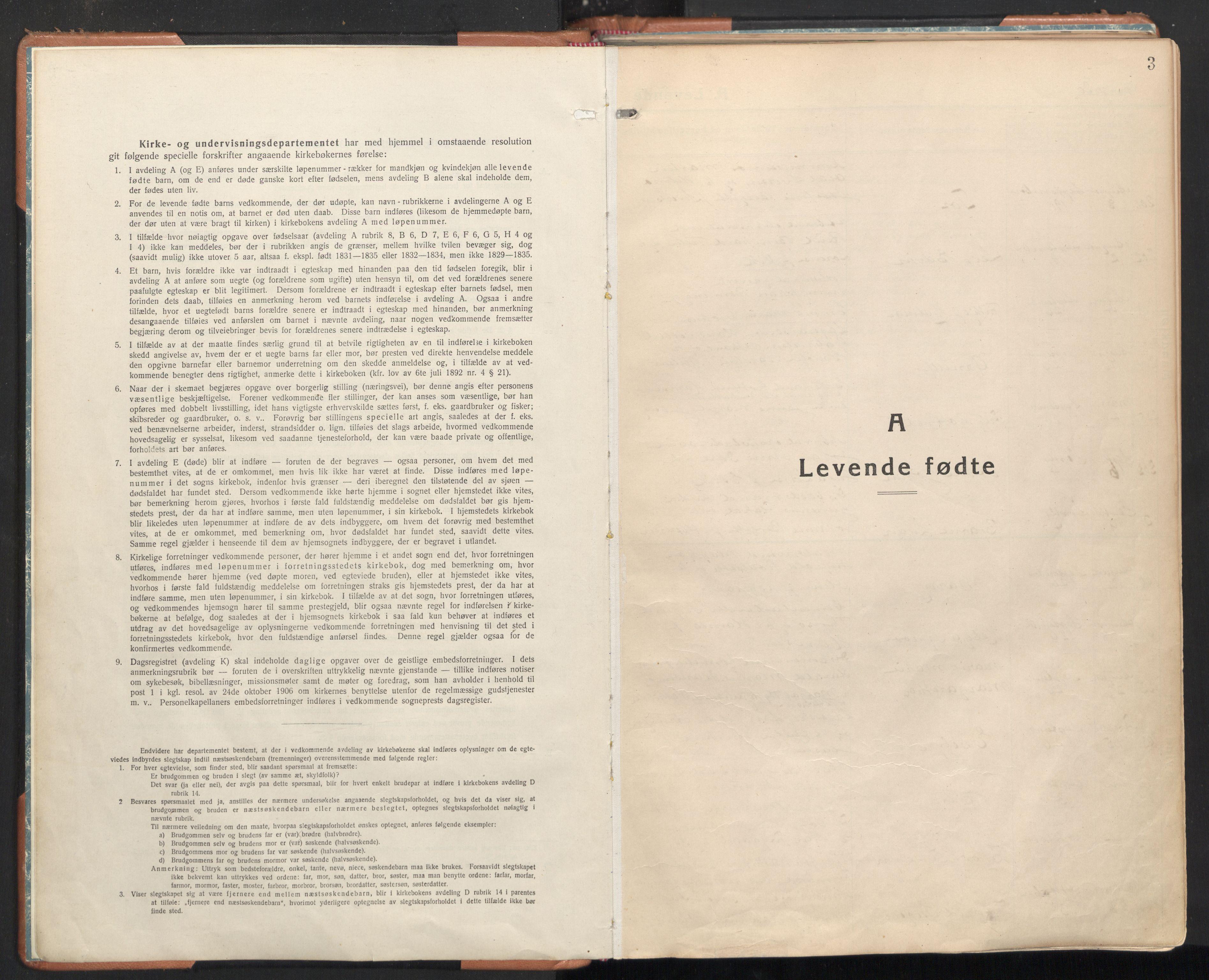 SAT, Ministerialprotokoller, klokkerbøker og fødselsregistre - Sør-Trøndelag, 605/L0248: Ministerialbok nr. 605A10, 1920-1937, s. 3