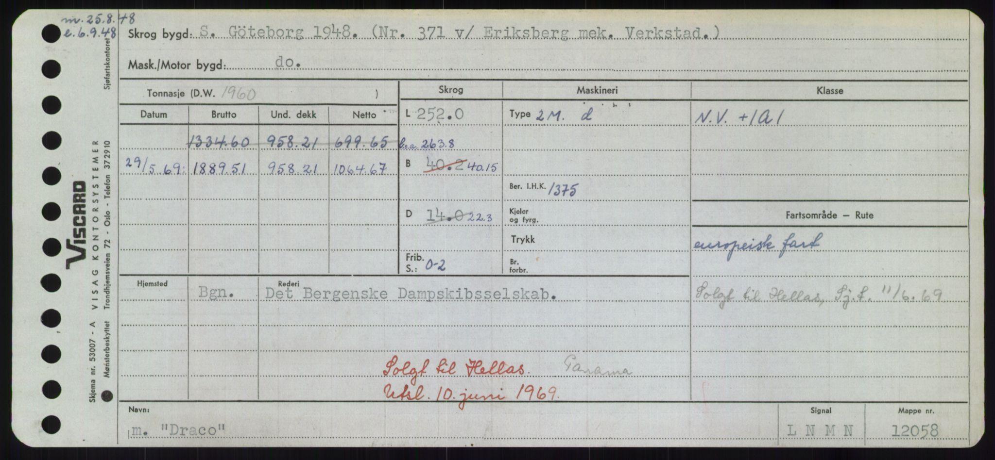 RA, Sjøfartsdirektoratet med forløpere, Skipsmålingen, H/Hd/L0008: Fartøy, C-D, s. 609