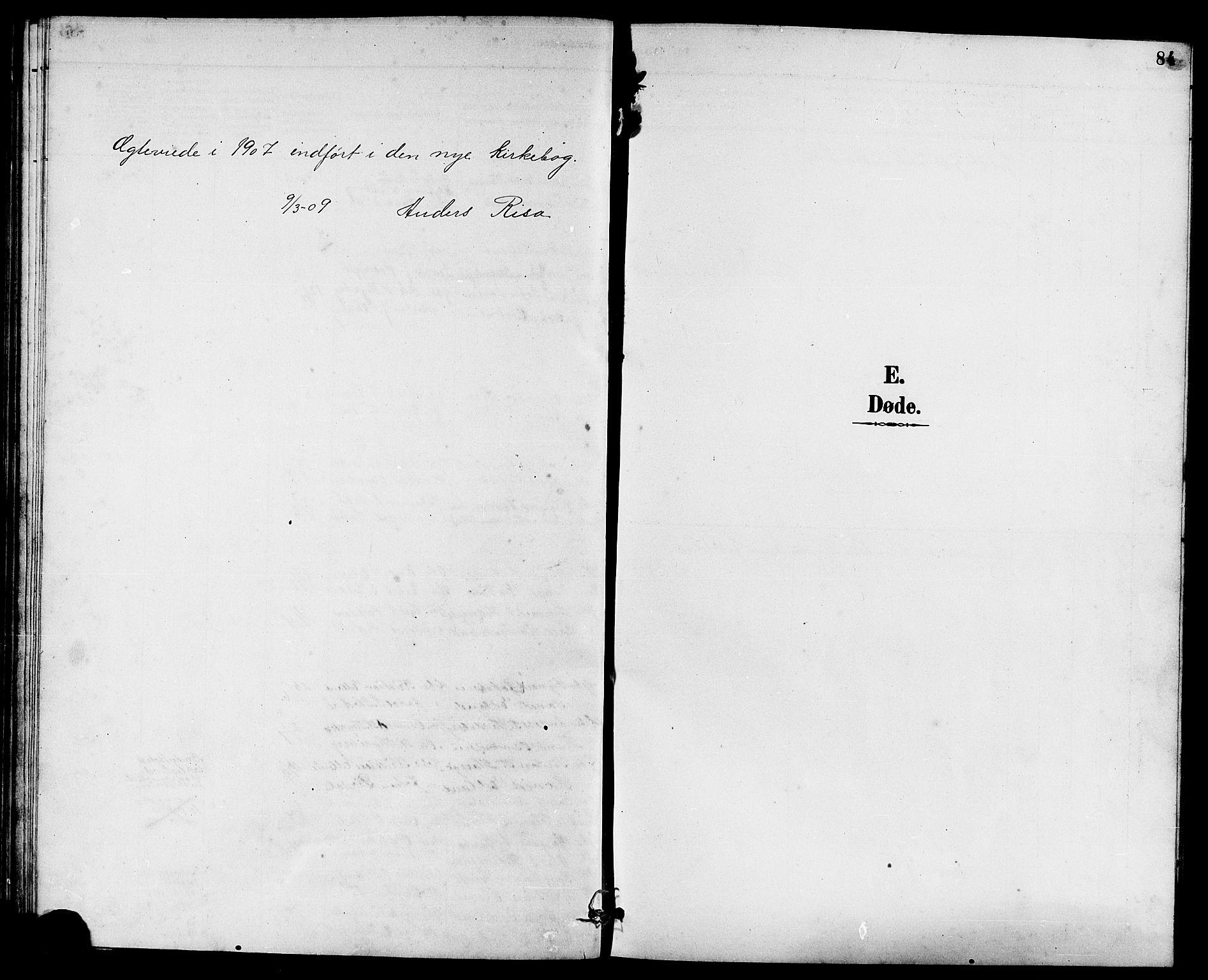 SAST, Rennesøy sokneprestkontor, H/Ha/Hab/L0011: Klokkerbok nr. B 10, 1891-1908, s. 84