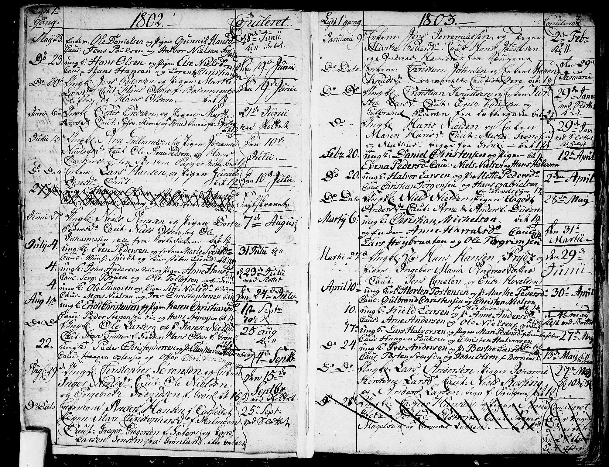 SAO, Aker prestekontor kirkebøker, G/L0001: Klokkerbok nr. 1, 1796-1826, s. 6-7