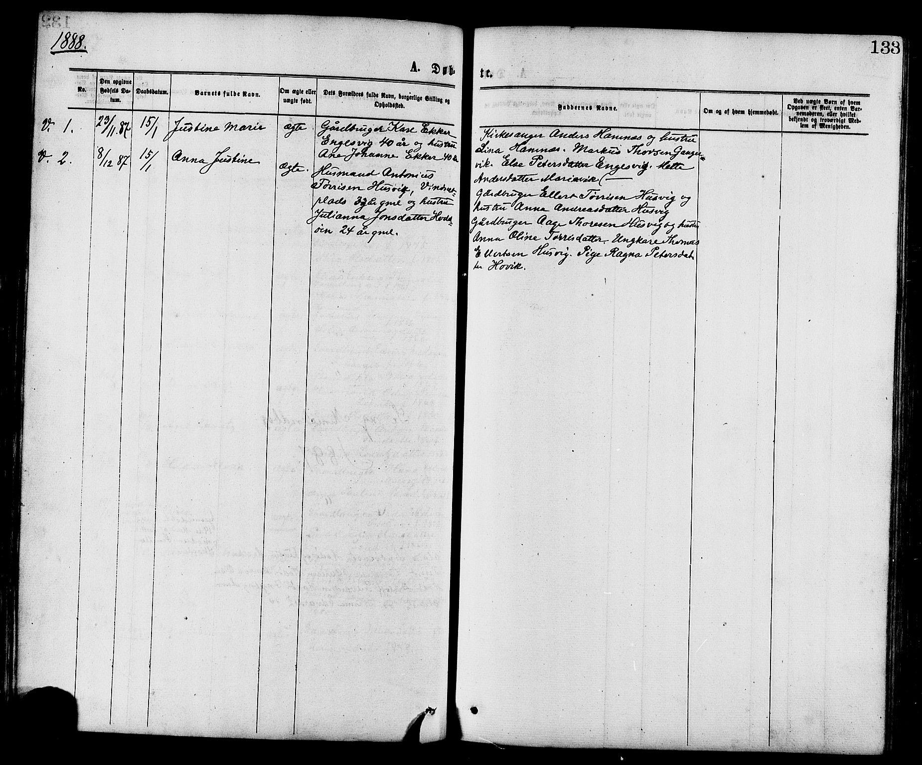 SAT, Ministerialprotokoller, klokkerbøker og fødselsregistre - Nord-Trøndelag, 773/L0616: Ministerialbok nr. 773A07, 1870-1887, s. 133
