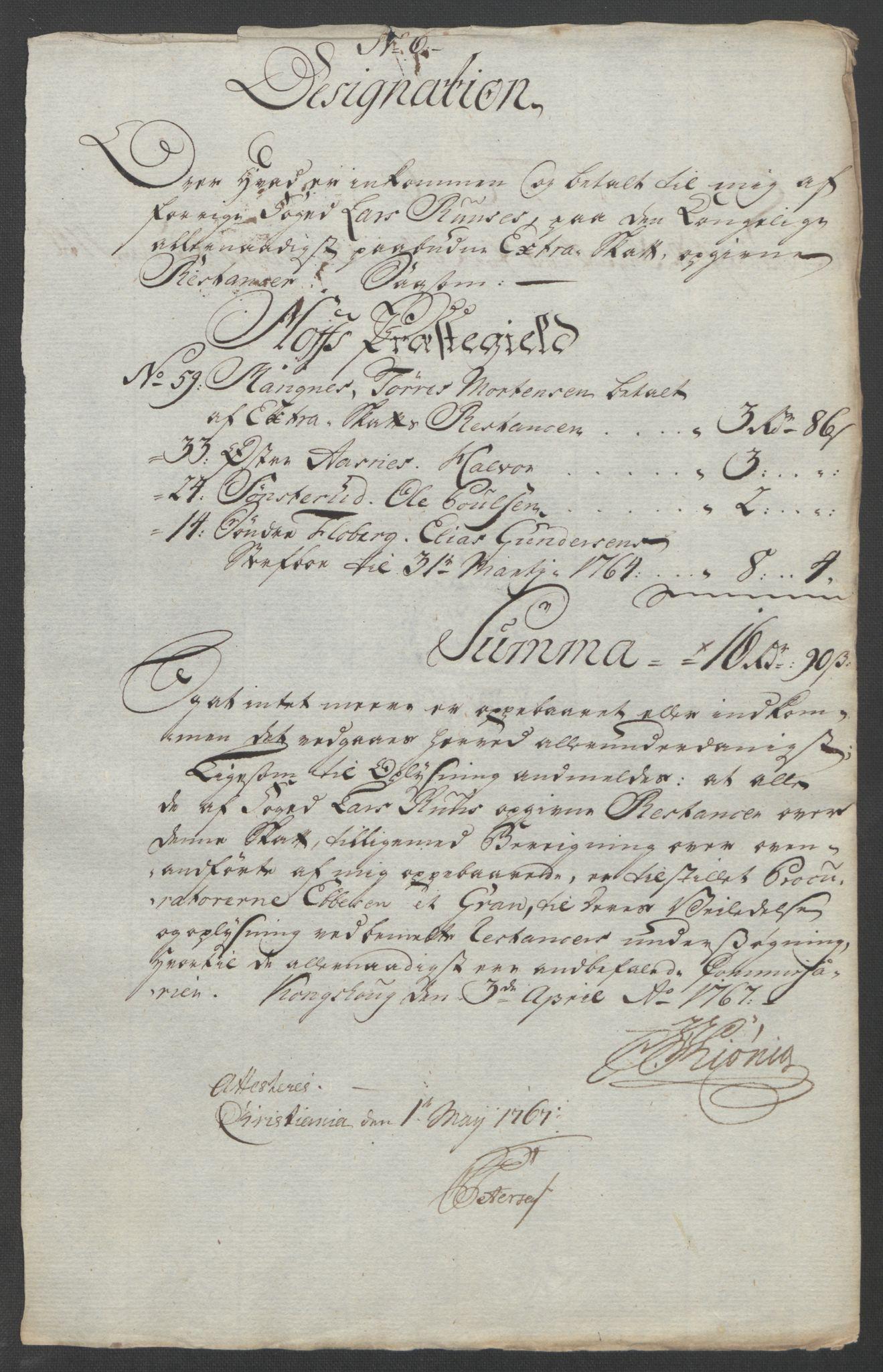 RA, Rentekammeret inntil 1814, Reviderte regnskaper, Fogderegnskap, R14/L0959: Ekstraskatten Solør og Odal, 1763-1770, s. 569