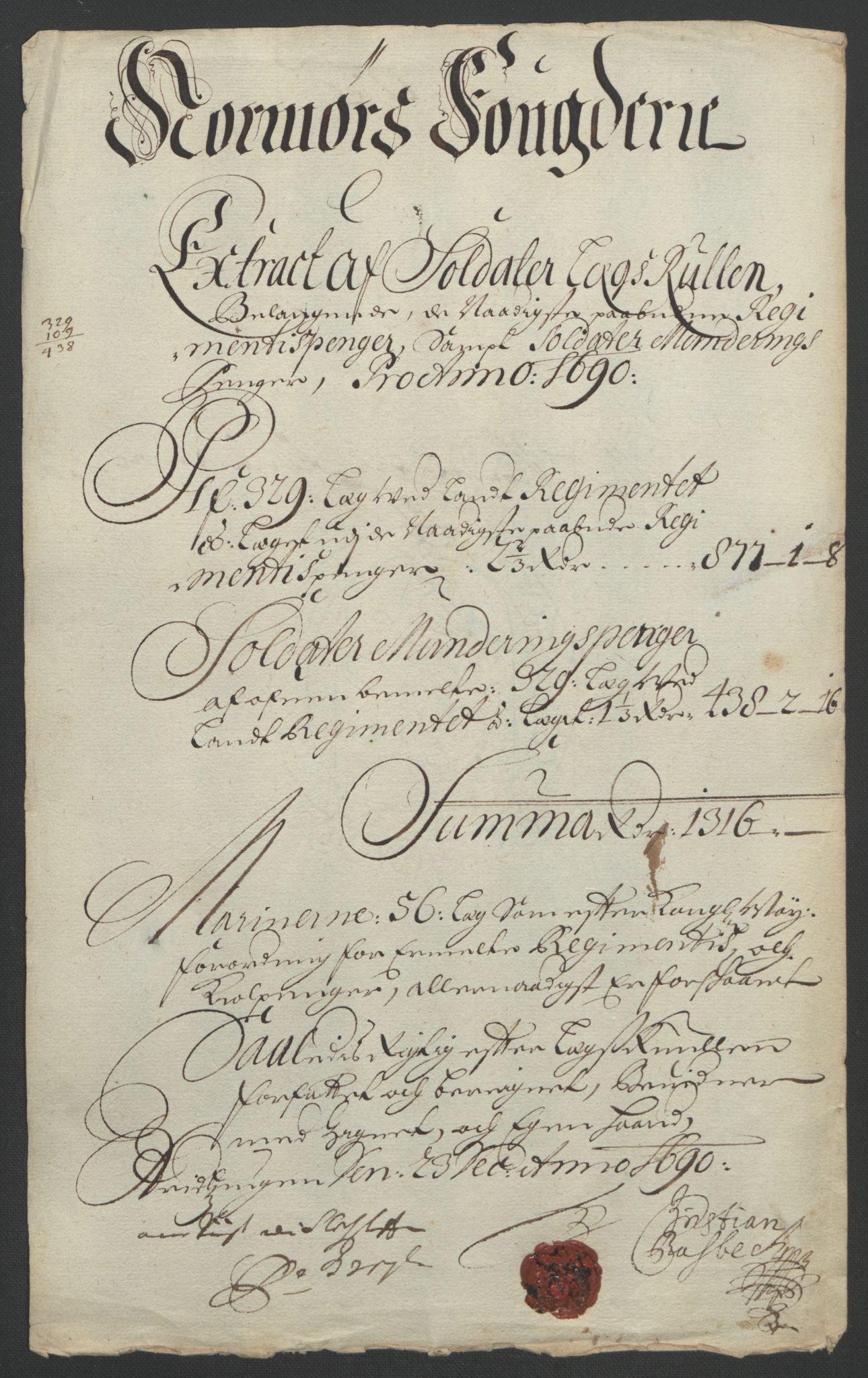 RA, Rentekammeret inntil 1814, Reviderte regnskaper, Fogderegnskap, R56/L3734: Fogderegnskap Nordmøre, 1690-1691, s. 108
