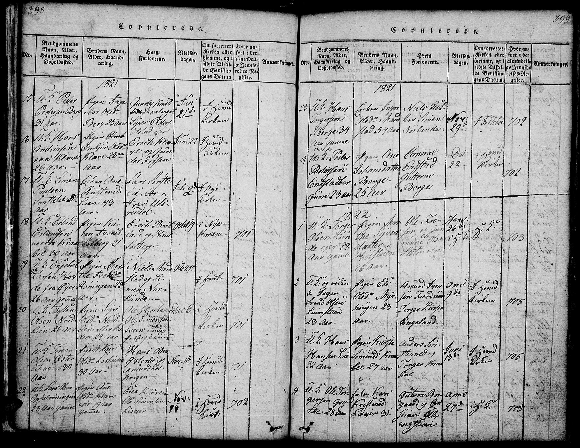 SAH, Gausdal prestekontor, Klokkerbok nr. 1, 1817-1848, s. 398-399