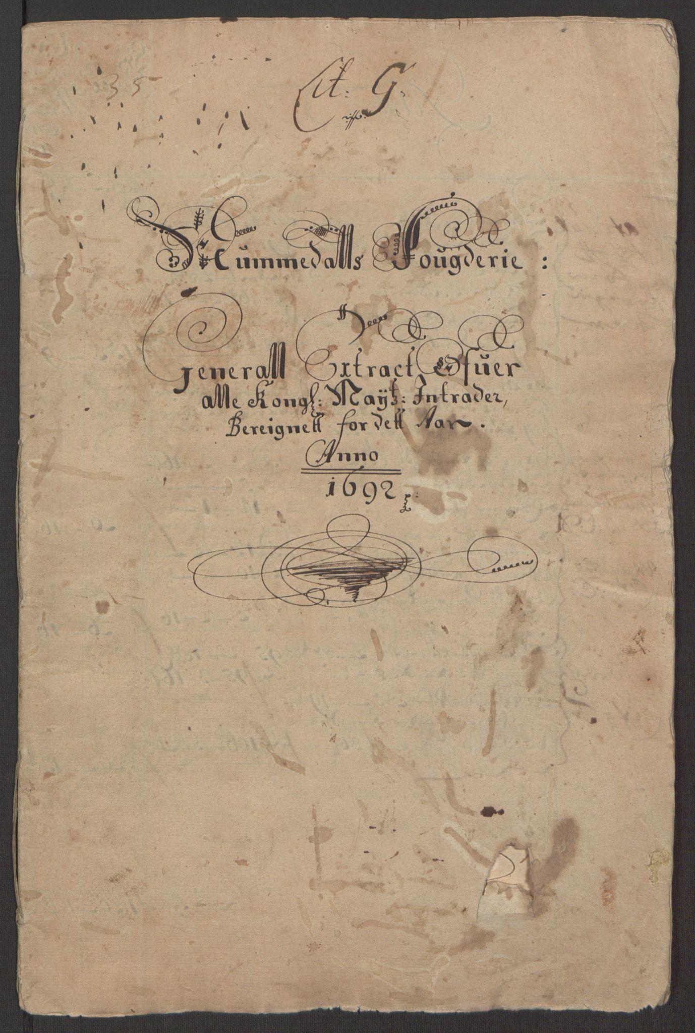 RA, Rentekammeret inntil 1814, Reviderte regnskaper, Fogderegnskap, R64/L4424: Fogderegnskap Namdal, 1692-1695, s. 3