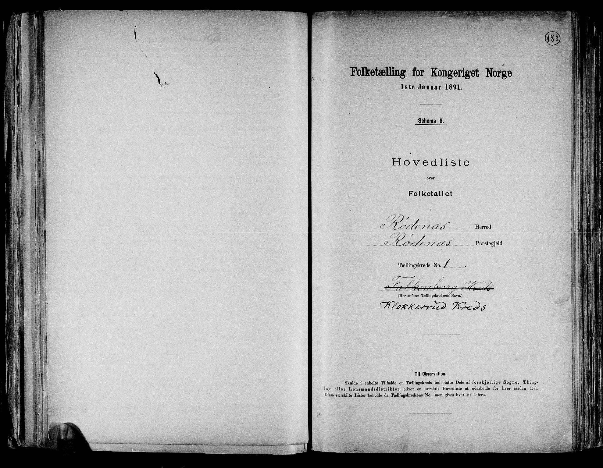 RA, Folketelling 1891 for 0120 Rødenes herred, 1891, s. 4