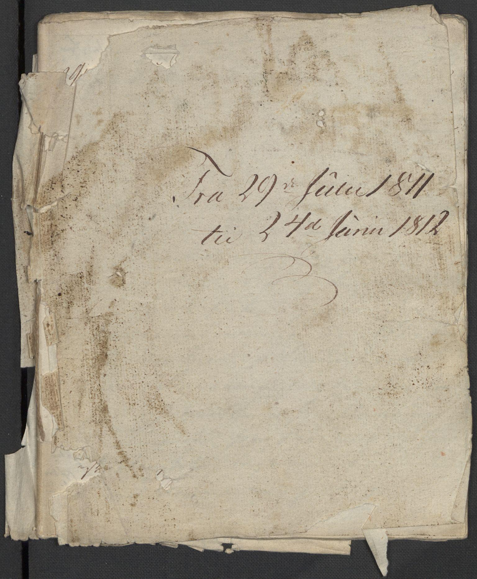 RA, Holck, Meidell, Hartvig, F/L0001: (Kassett) Dagbøker ført av Ole Elias v.Holck, 1798-1842, s. 268