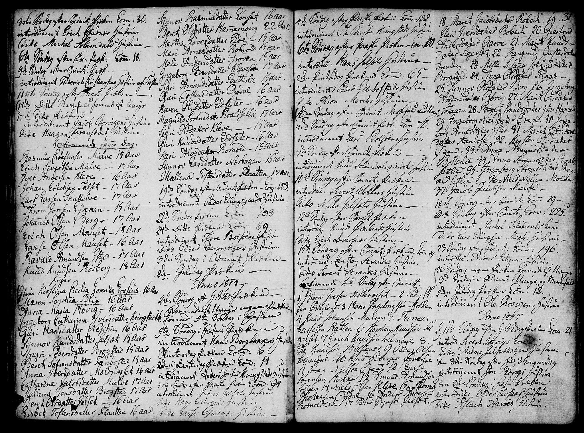 SAT, Ministerialprotokoller, klokkerbøker og fødselsregistre - Møre og Romsdal, 555/L0649: Ministerialbok nr. 555A02 /1, 1795-1821, s. 31