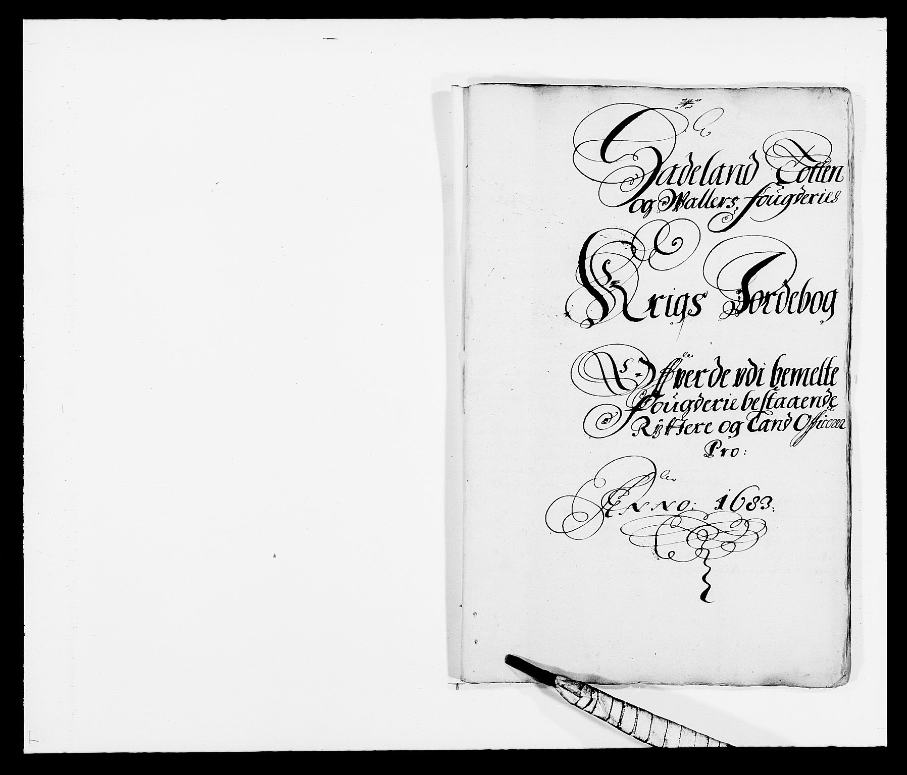 RA, Rentekammeret inntil 1814, Reviderte regnskaper, Fogderegnskap, R18/L1282: Fogderegnskap Hadeland, Toten og Valdres, 1683, s. 260