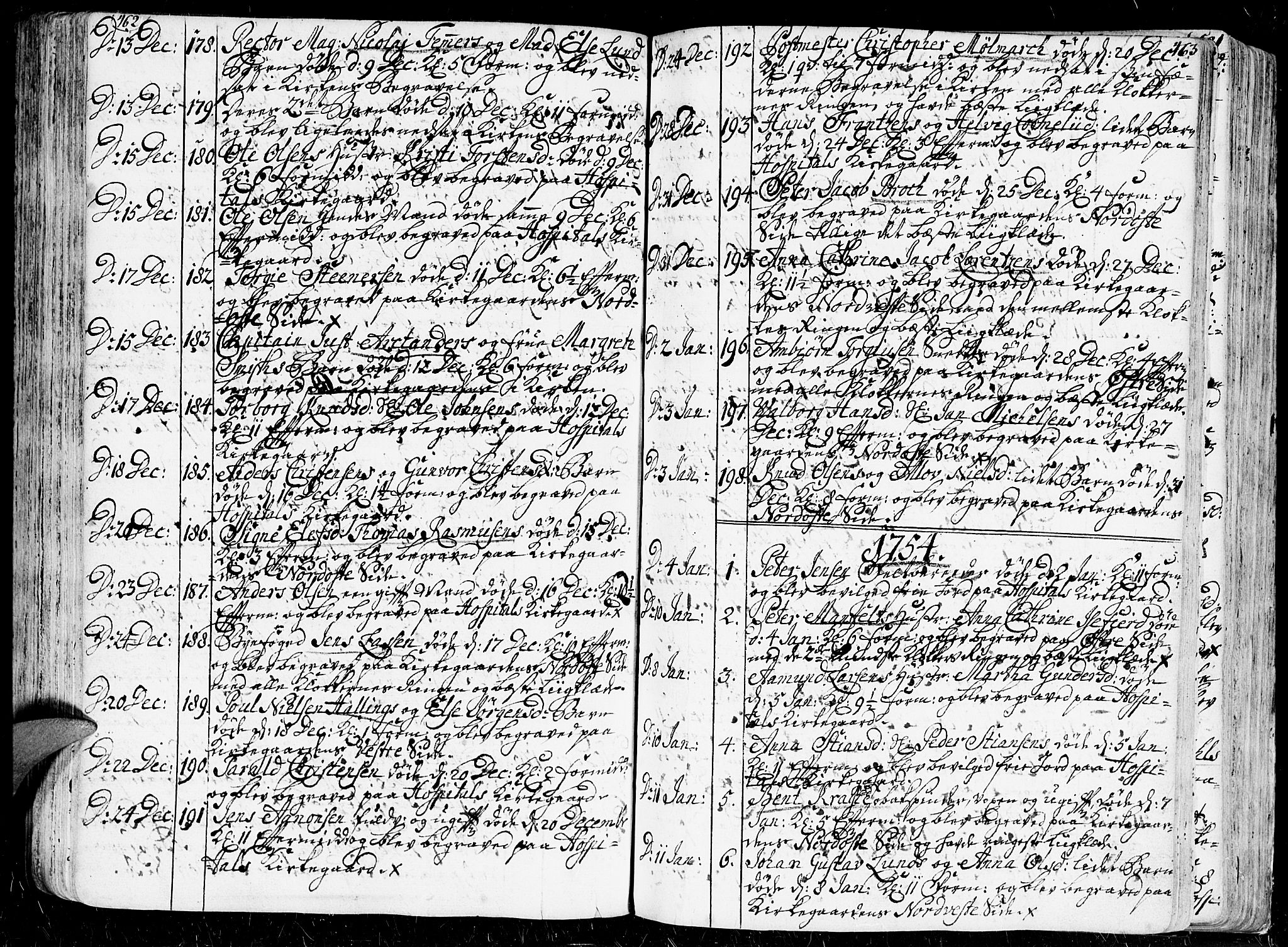 SAK, Kristiansand domprosti, F/Fa/L0001: Ministerialbok nr. A 1, 1734-1793, s. 462-463