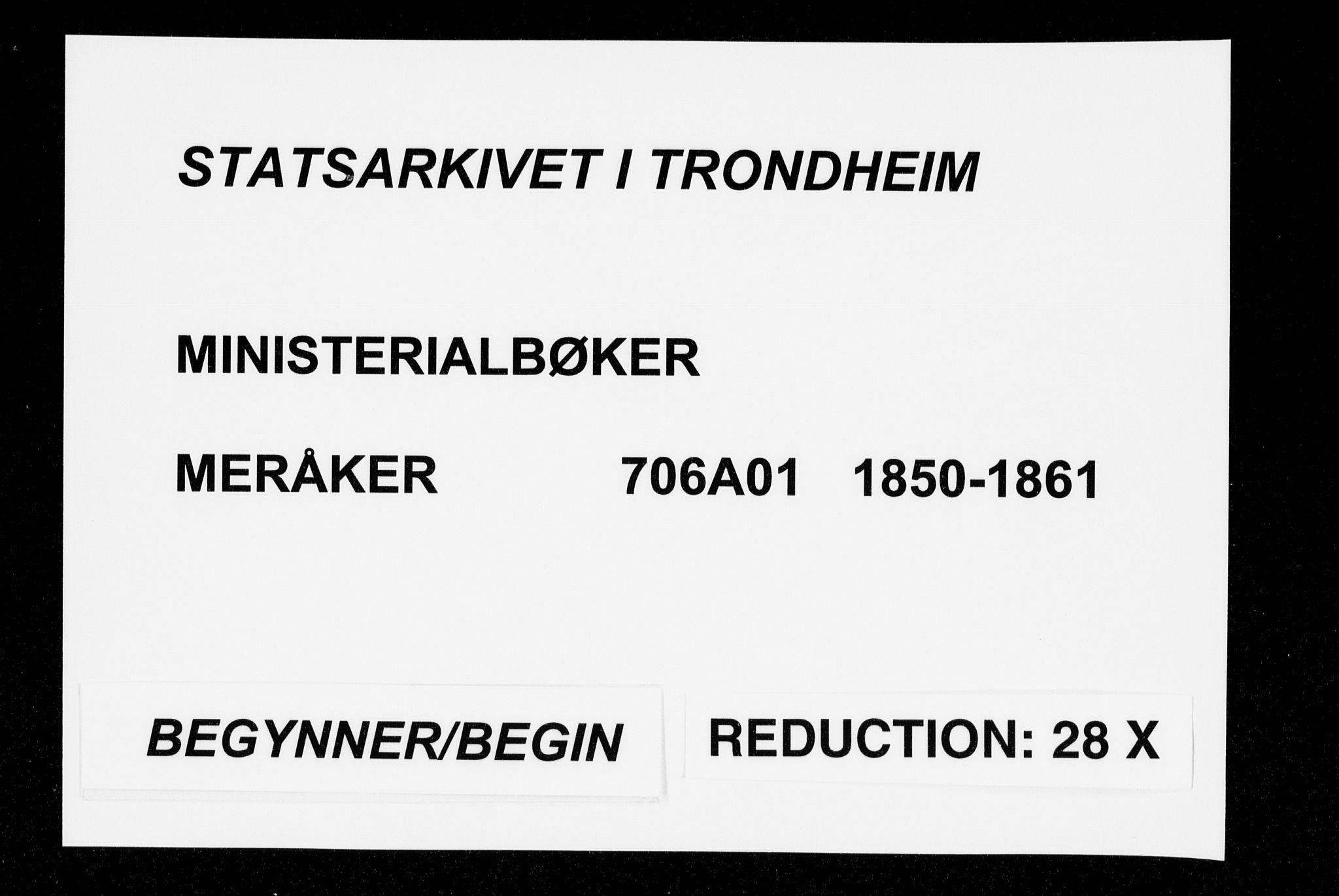 SAT, Ministerialprotokoller, klokkerbøker og fødselsregistre - Nord-Trøndelag, 706/L0040: Ministerialbok nr. 706A01, 1850-1861