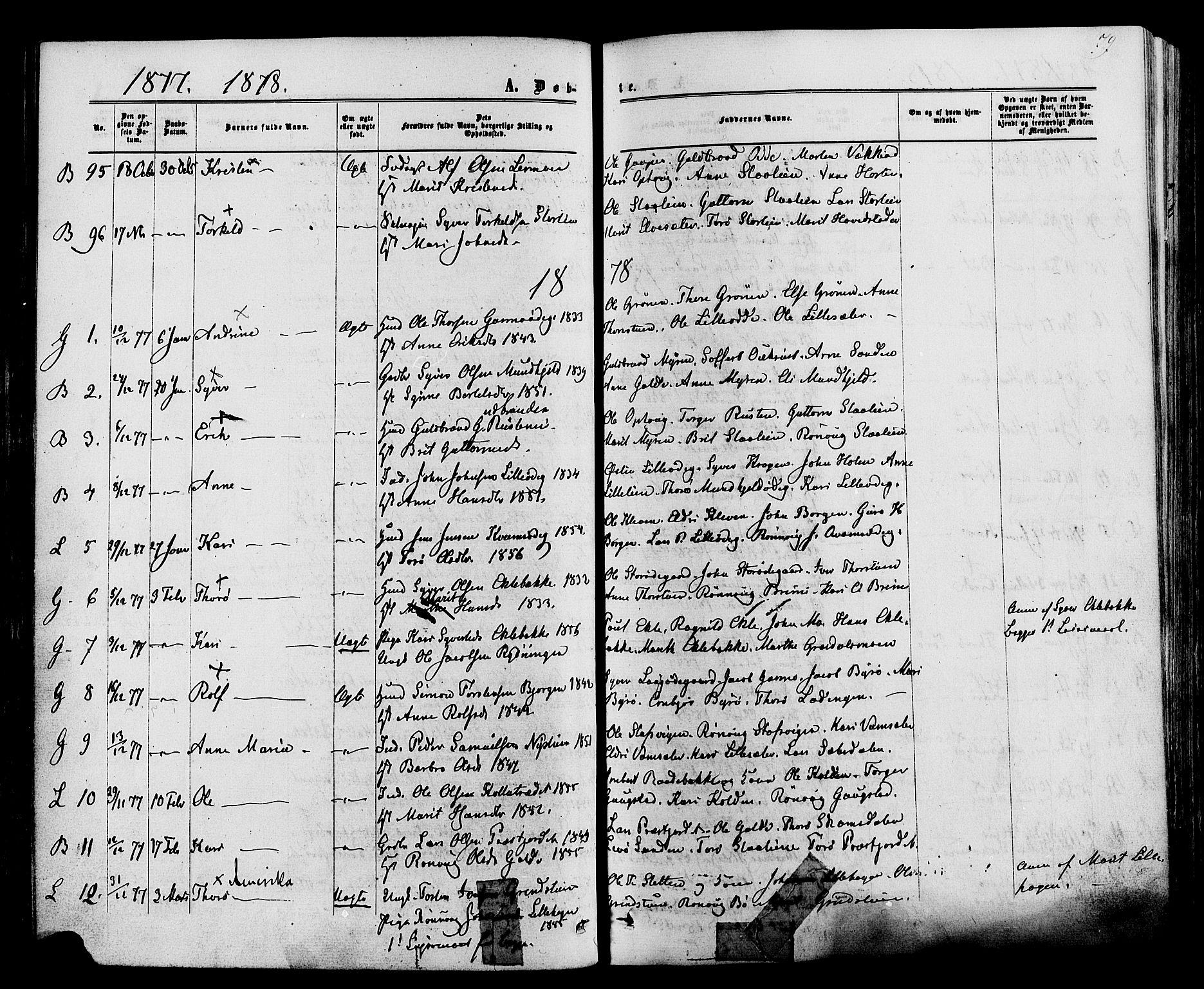 SAH, Lom prestekontor, K/L0007: Ministerialbok nr. 7, 1863-1884, s. 79