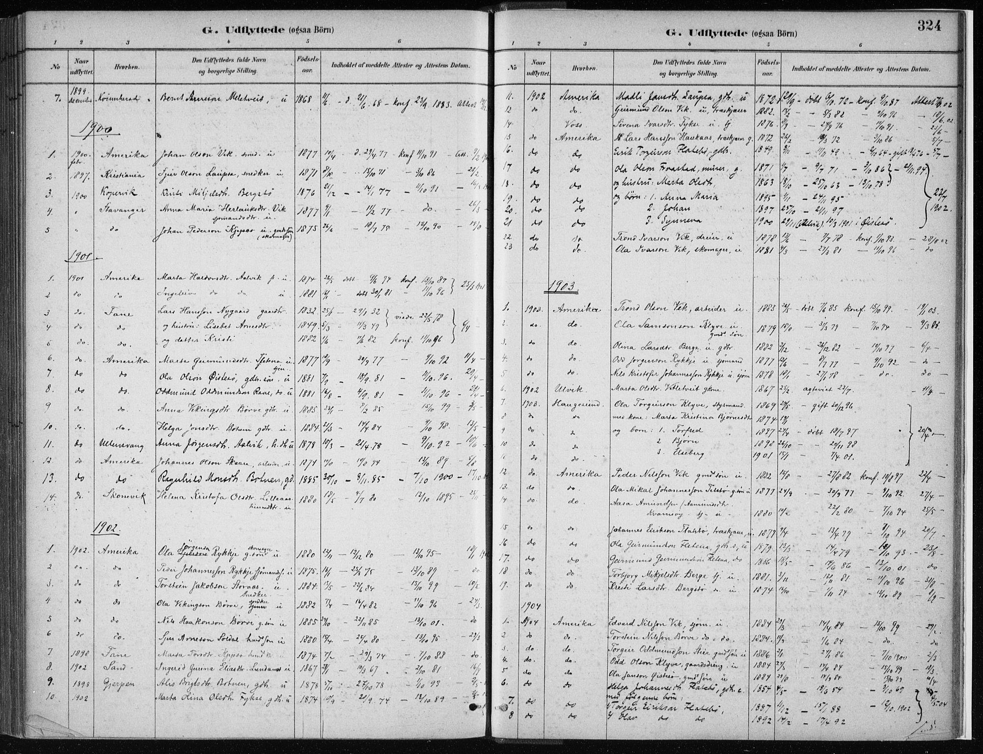 SAB, Kvam Sokneprestembete, H/Haa: Ministerialbok nr. C  1, 1880-1906, s. 324