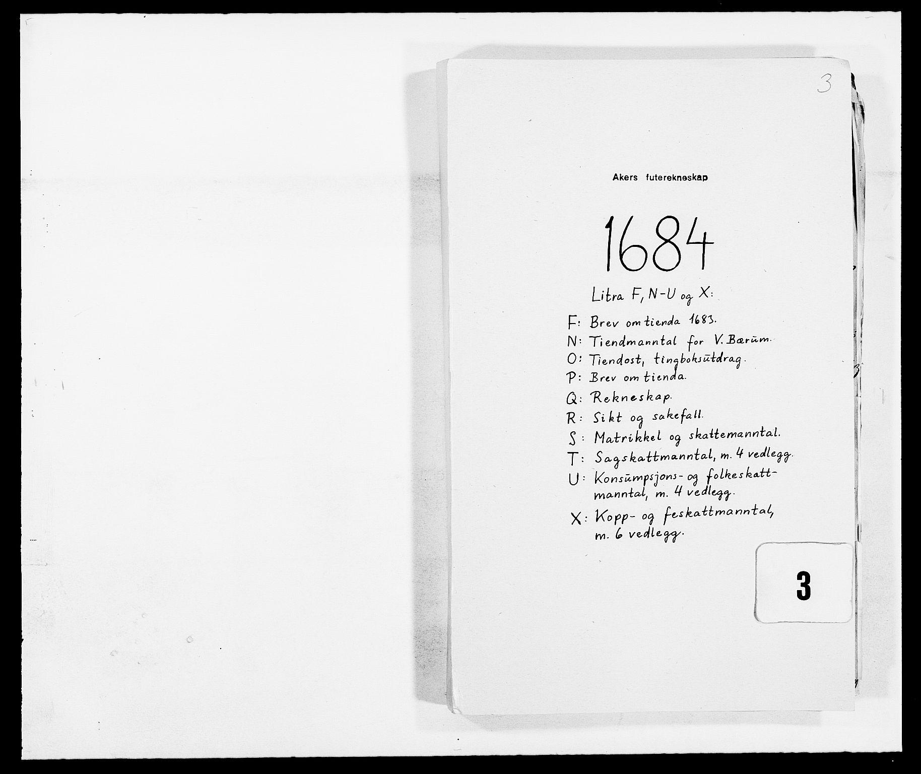 RA, Rentekammeret inntil 1814, Reviderte regnskaper, Fogderegnskap, R08/L0421: Fogderegnskap Aker, 1682-1683, s. 1