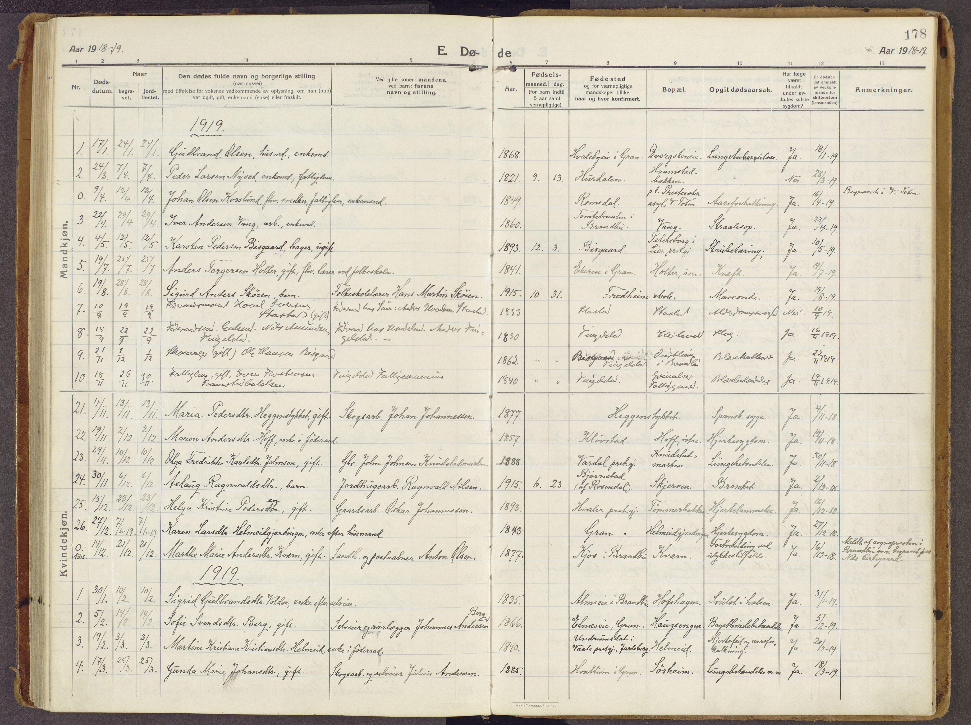 SAH, Brandbu prestekontor, Ministerialbok nr. 3, 1914-1928, s. 178