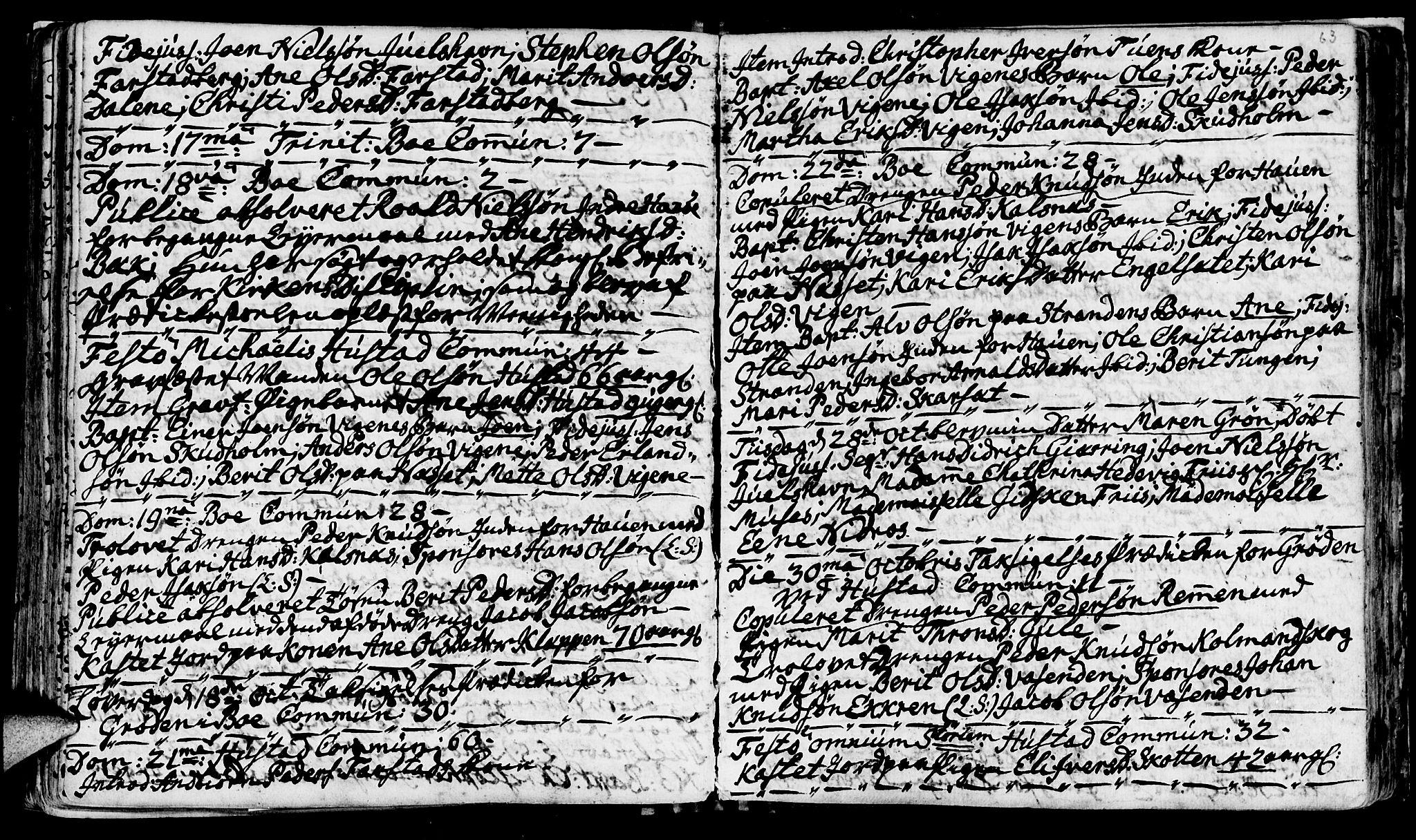 SAT, Ministerialprotokoller, klokkerbøker og fødselsregistre - Møre og Romsdal, 566/L0760: Ministerialbok nr. 566A01, 1739-1766, s. 63