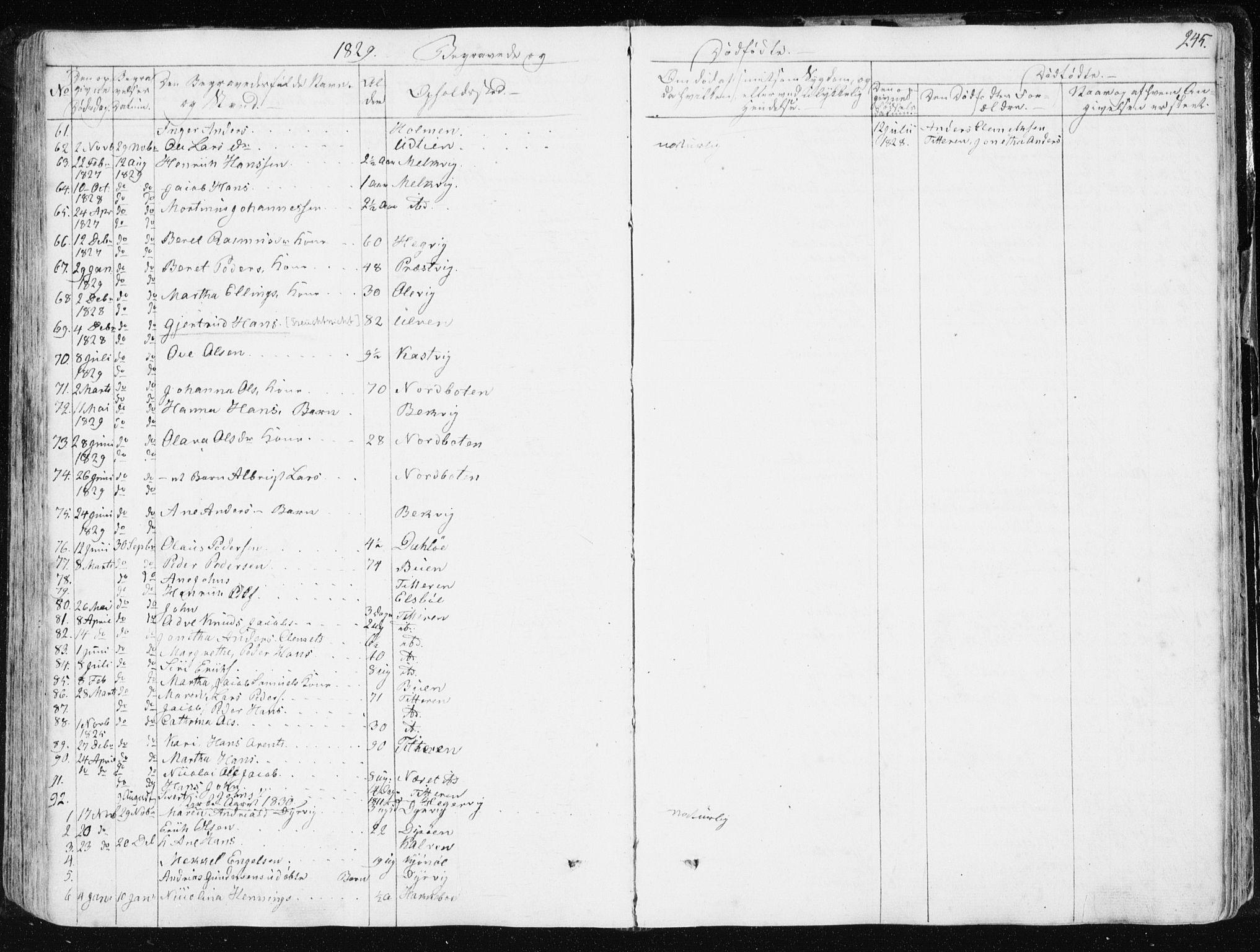 SAT, Ministerialprotokoller, klokkerbøker og fødselsregistre - Sør-Trøndelag, 634/L0528: Ministerialbok nr. 634A04, 1827-1842, s. 245