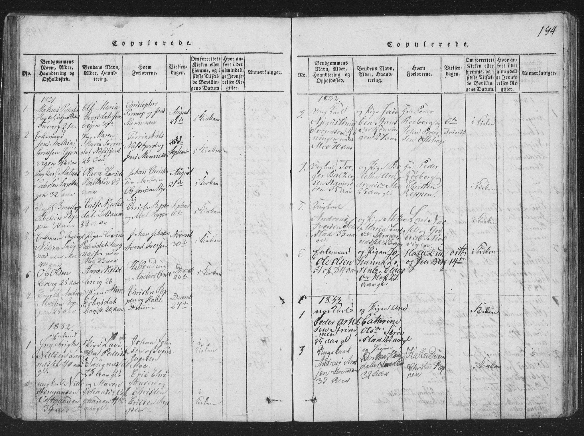 SAT, Ministerialprotokoller, klokkerbøker og fødselsregistre - Nord-Trøndelag, 773/L0613: Ministerialbok nr. 773A04, 1815-1845, s. 194
