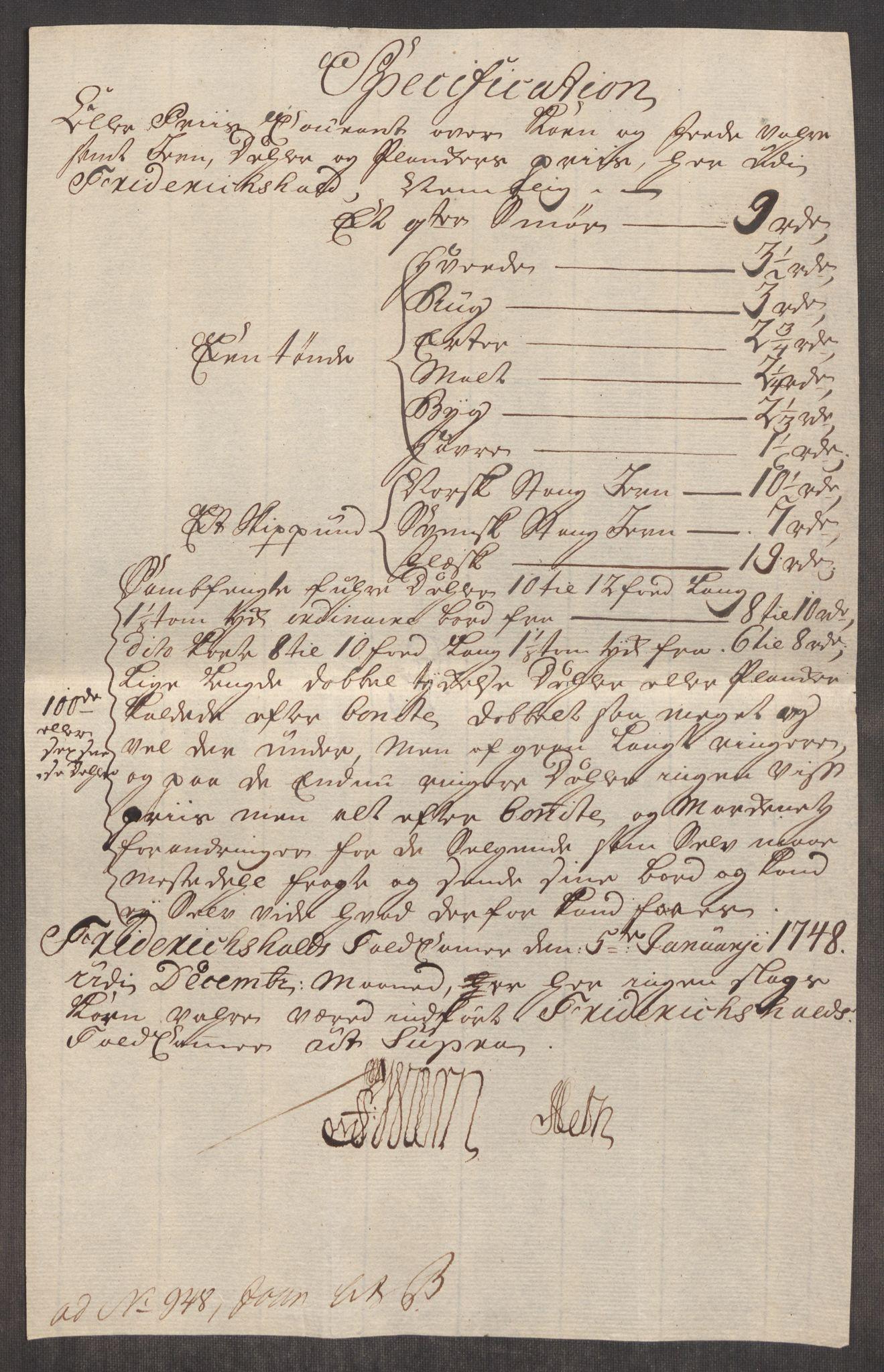 RA, Rentekammeret inntil 1814, Realistisk ordnet avdeling, Oe/L0003: [Ø1]: Priskuranter, 1745-1748, s. 458