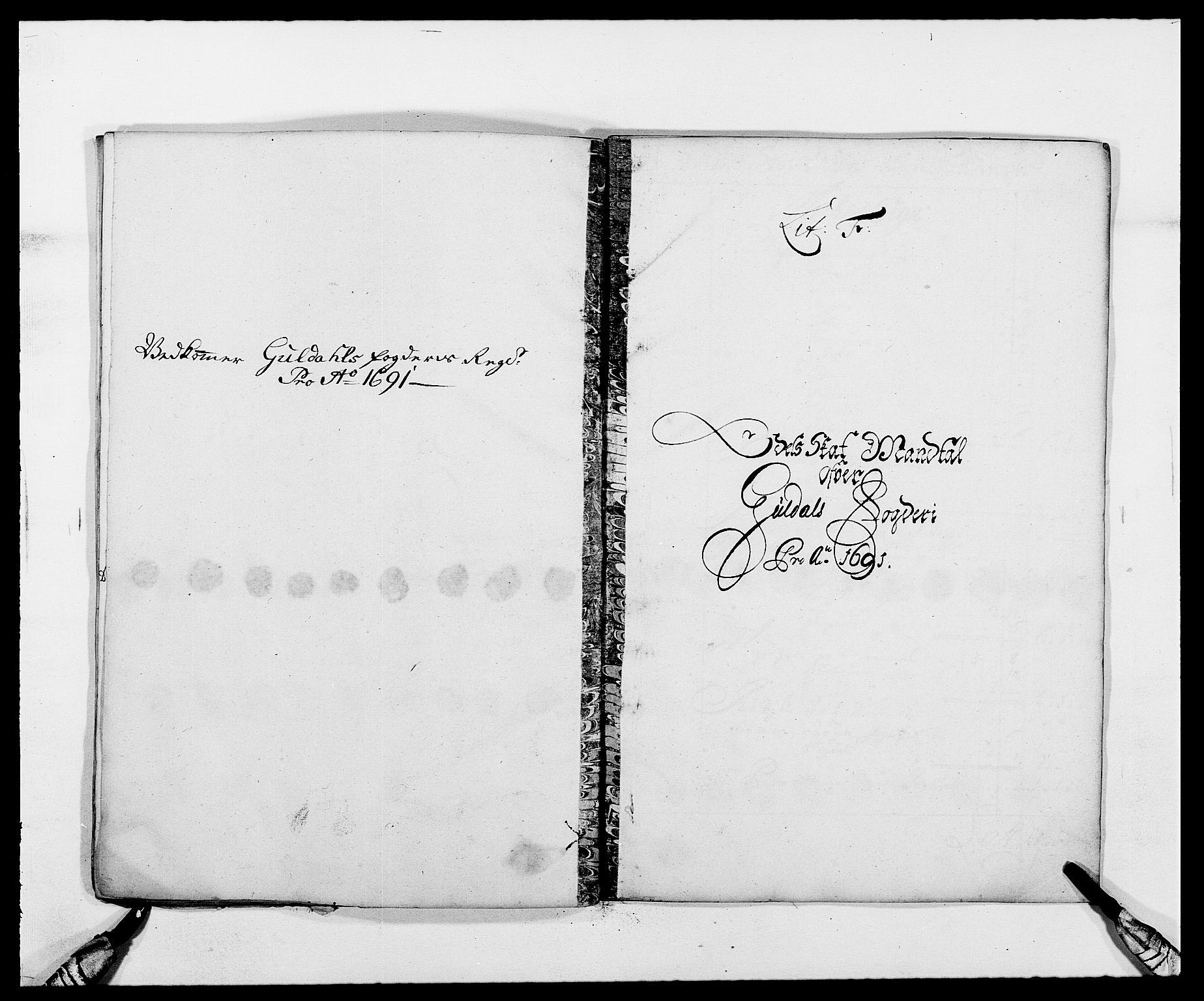 RA, Rentekammeret inntil 1814, Reviderte regnskaper, Fogderegnskap, R59/L3941: Fogderegnskap Gauldal, 1691, s. 83