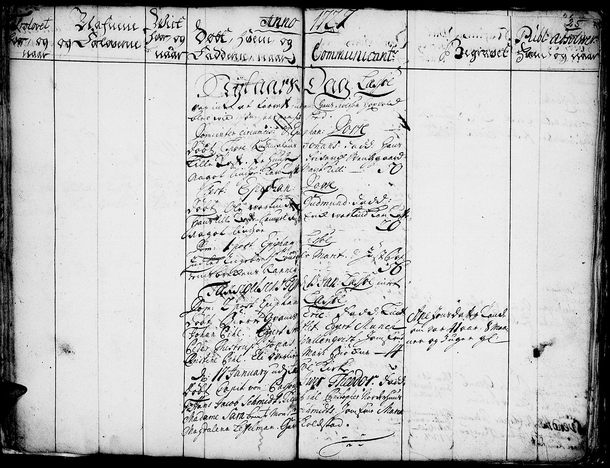 SAH, Lesja prestekontor, Ministerialbok nr. 1, 1724-1731, s. 25
