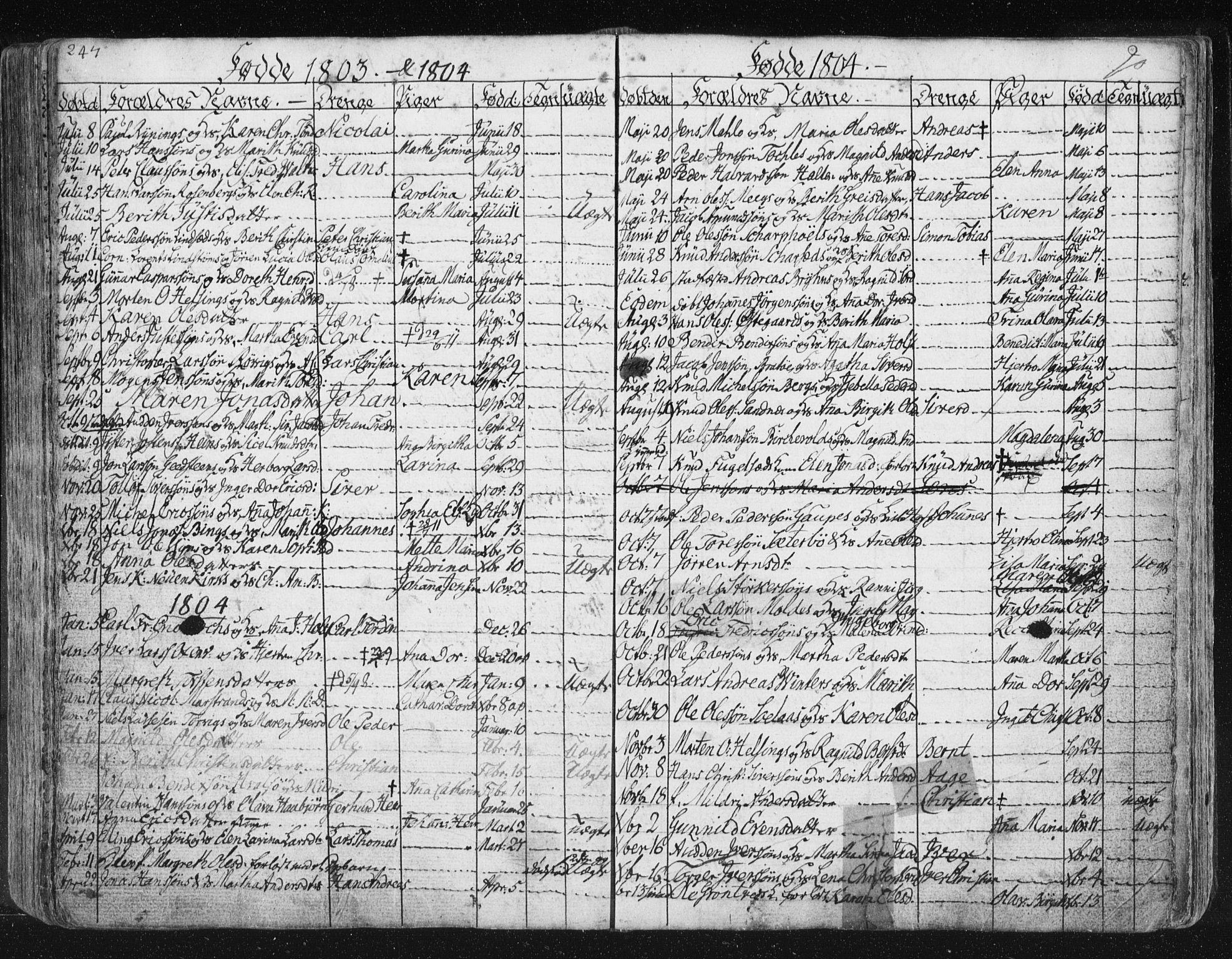 SAT, Ministerialprotokoller, klokkerbøker og fødselsregistre - Møre og Romsdal, 572/L0841: Ministerialbok nr. 572A04, 1784-1819, s. 247