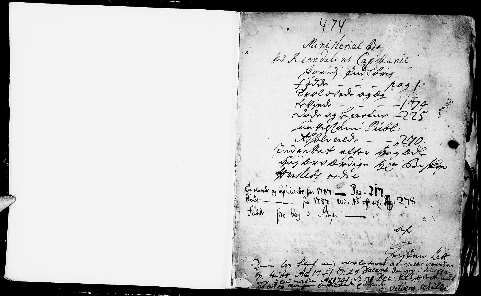 SAH, Rendalen prestekontor, H/Ha/Haa/L0001: Ministerialbok nr. 1, 1733-1787