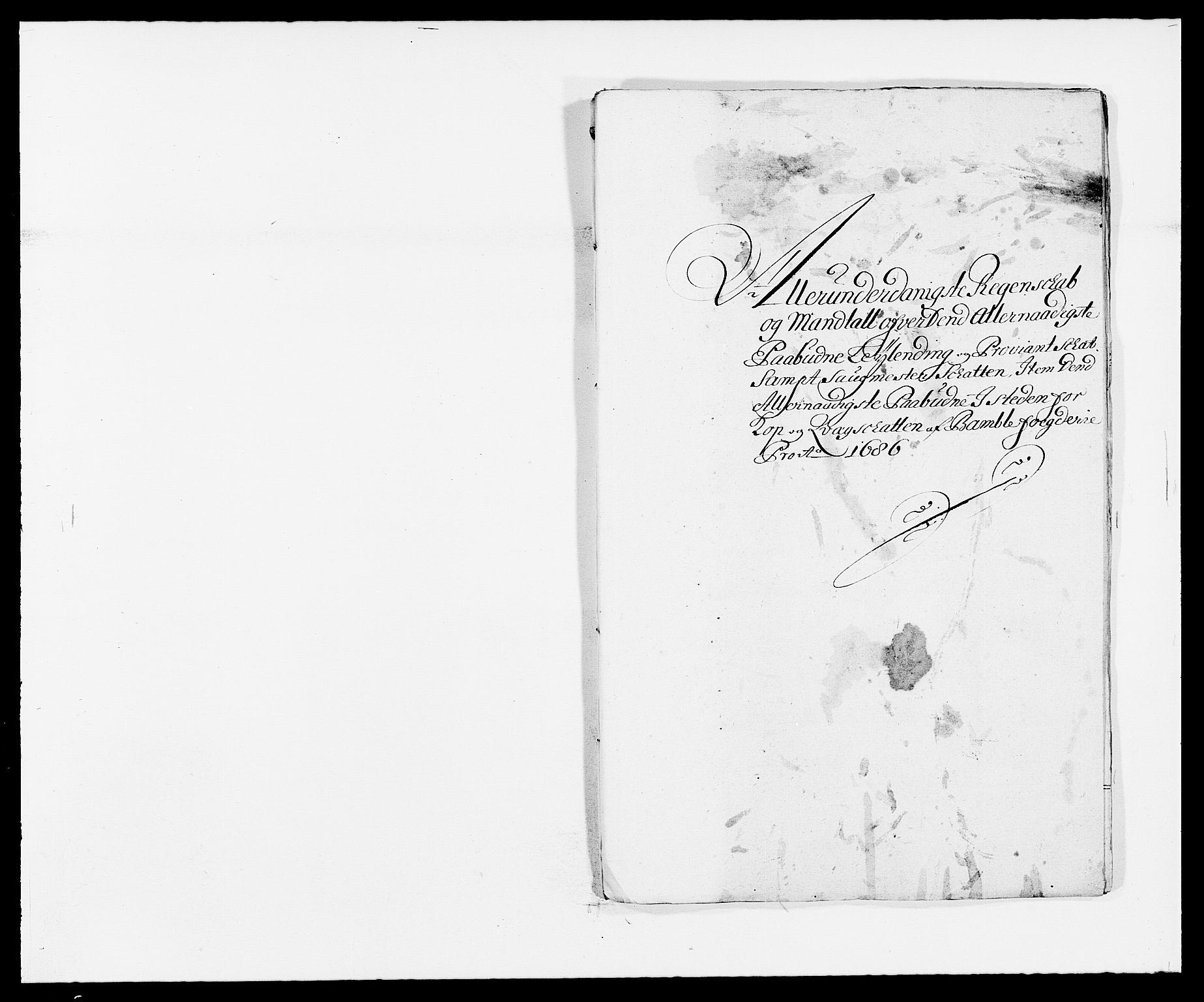 RA, Rentekammeret inntil 1814, Reviderte regnskaper, Fogderegnskap, R34/L2049: Fogderegnskap Bamble, 1685-1687, s. 35
