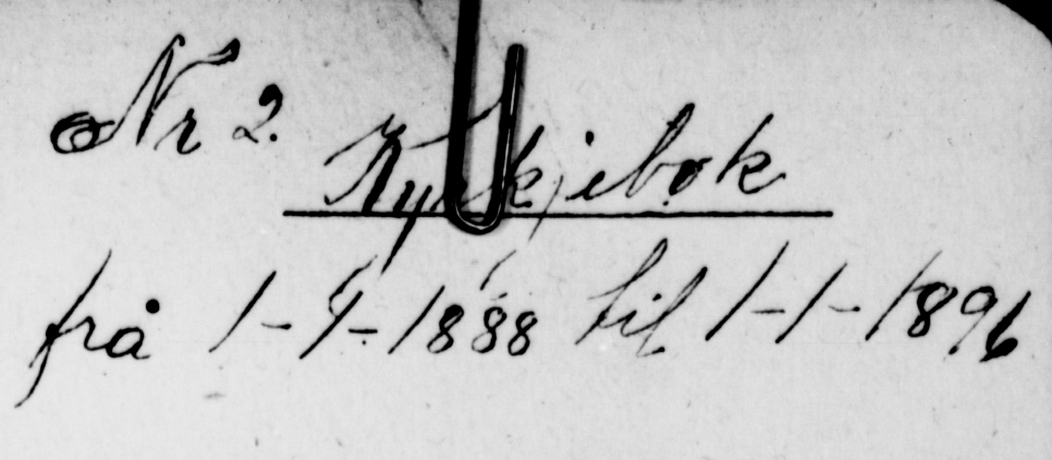 SAKO, Lunde kirkebøker, G/Gb/L0002: Klokkerbok nr. II 2, 1888-1895