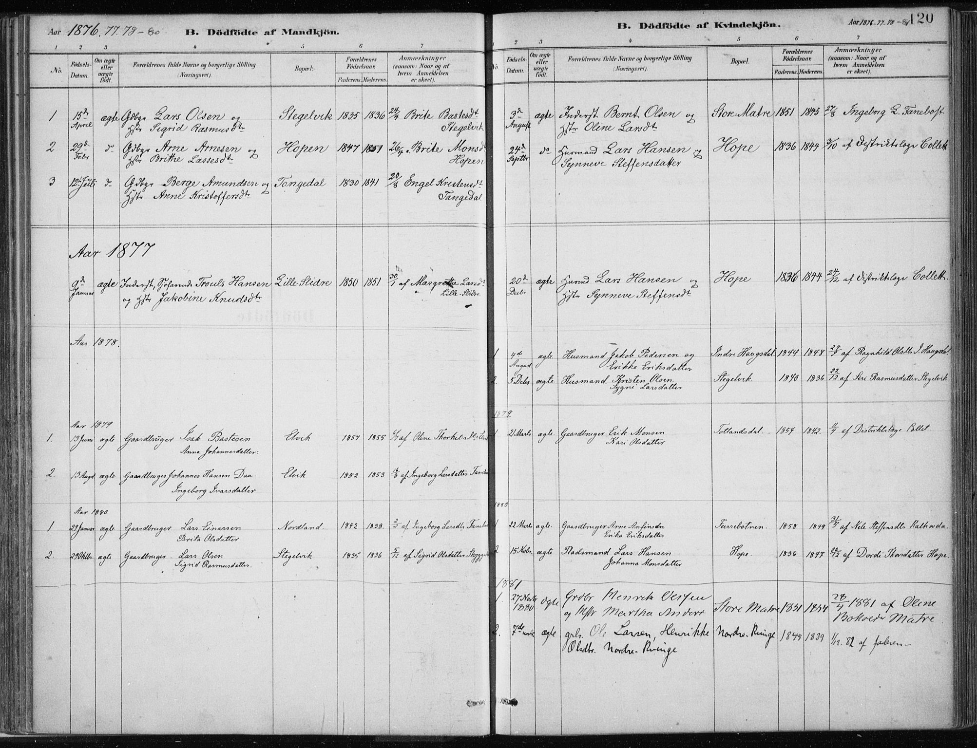 SAB, Masfjorden Soknepresembete, Ministerialbok nr. B  1, 1876-1899, s. 120