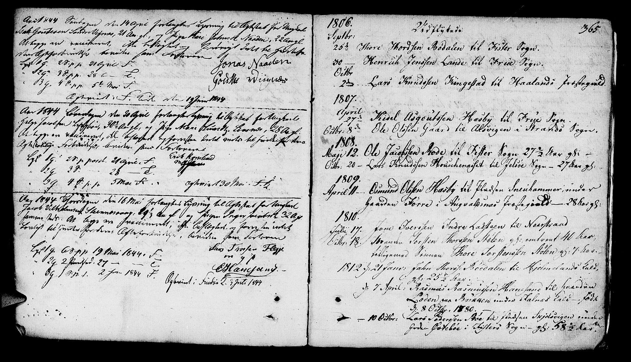 SAST, Finnøy sokneprestkontor, H/Ha/Haa/L0005: Ministerialbok nr. A 5, 1773-1816, s. 365