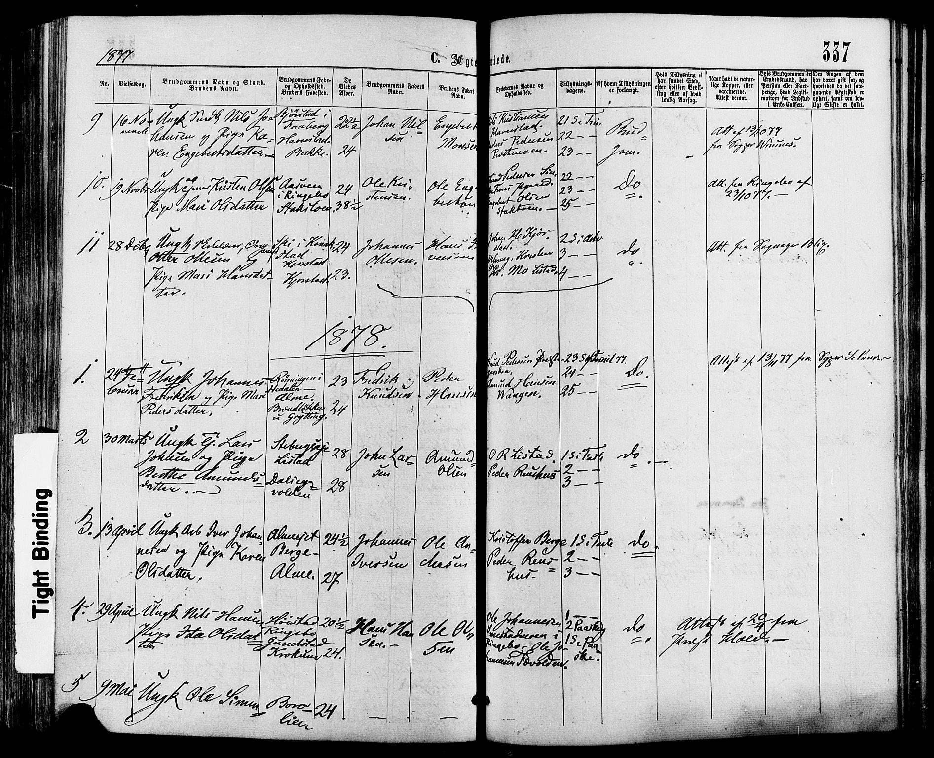 SAH, Sør-Fron prestekontor, H/Ha/Haa/L0002: Ministerialbok nr. 2, 1864-1880, s. 337
