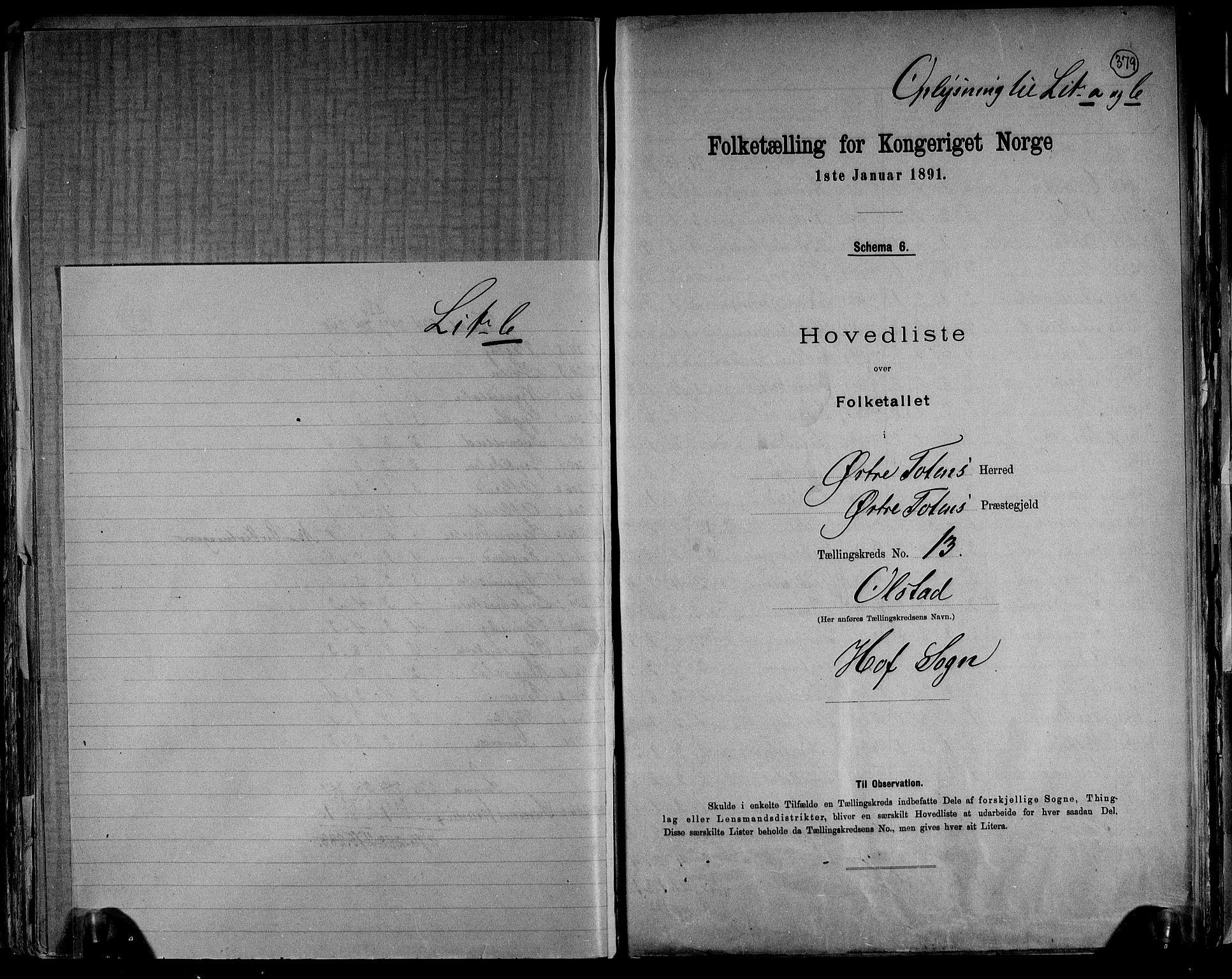 RA, Folketelling 1891 for 0528 Østre Toten herred, 1891, s. 42