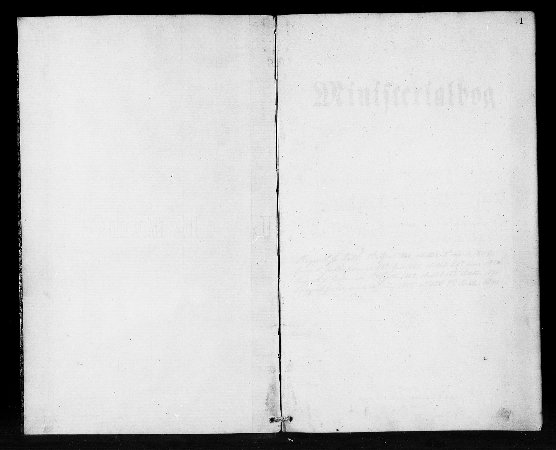 SAB, Den Norske Sjømannsmisjon i utlandet*, Ministerialbok nr. A 1, 1865-1880, s. 1
