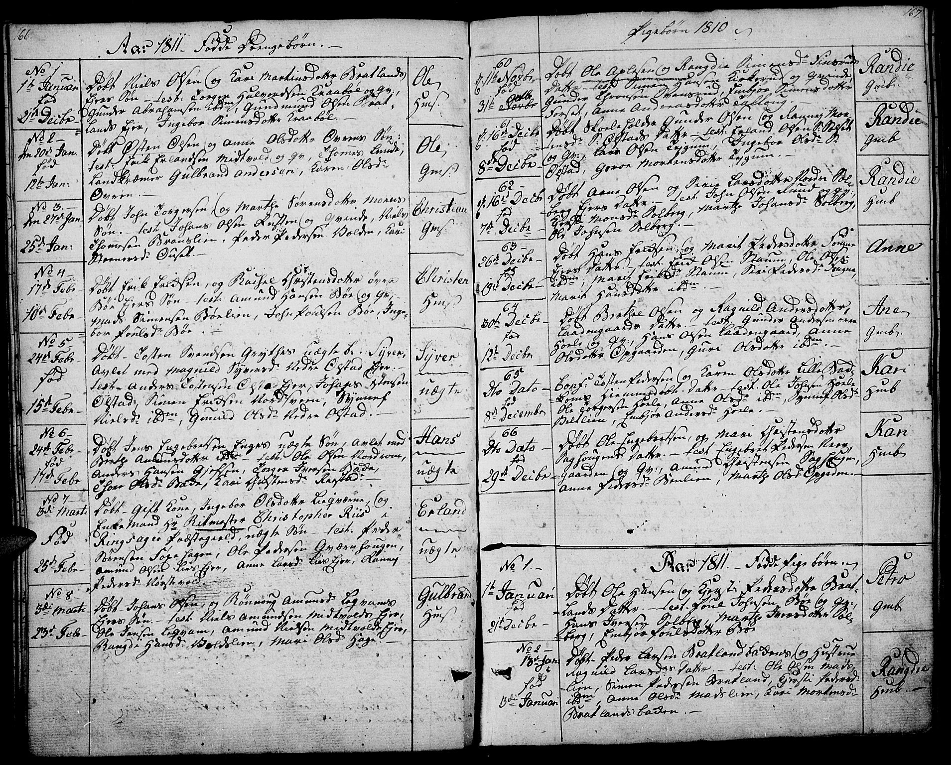 SAH, Gausdal prestekontor, Ministerialbok nr. 4, 1809-1817, s. 166-167