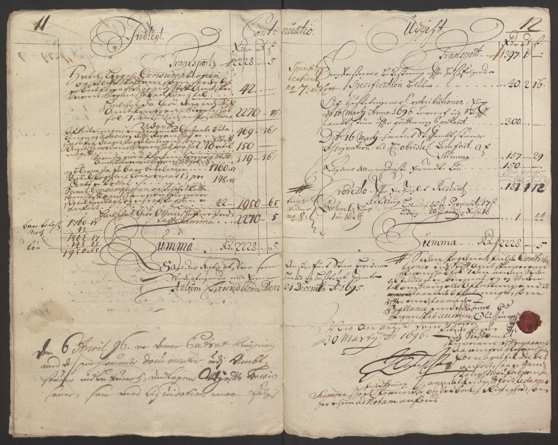 RA, Rentekammeret inntil 1814, Reviderte regnskaper, Fogderegnskap, R64/L4424: Fogderegnskap Namdal, 1692-1695, s. 458