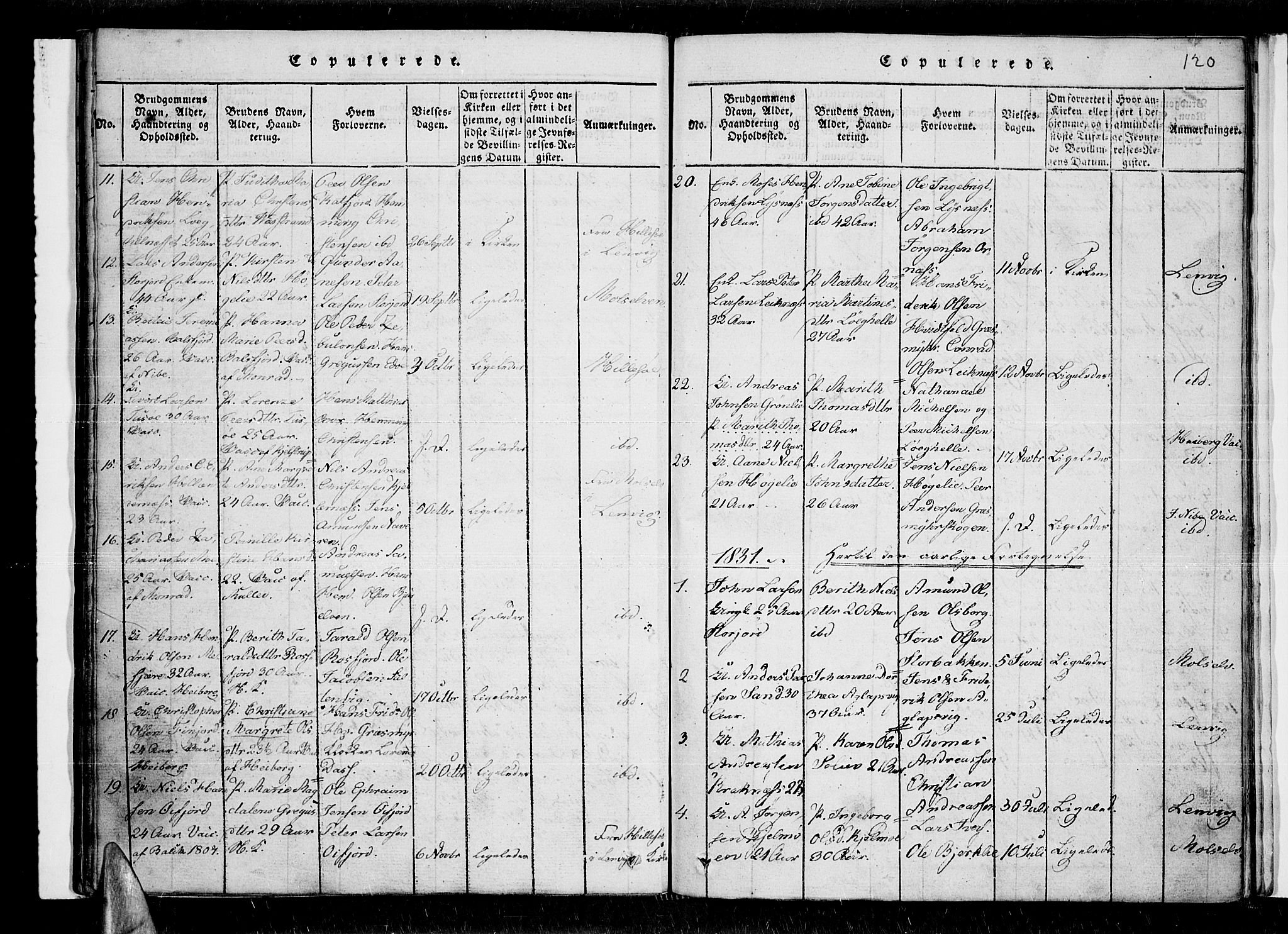 SATØ, Lenvik sokneprestembete, H/Ha: Ministerialbok nr. 3, 1820-1831, s. 120