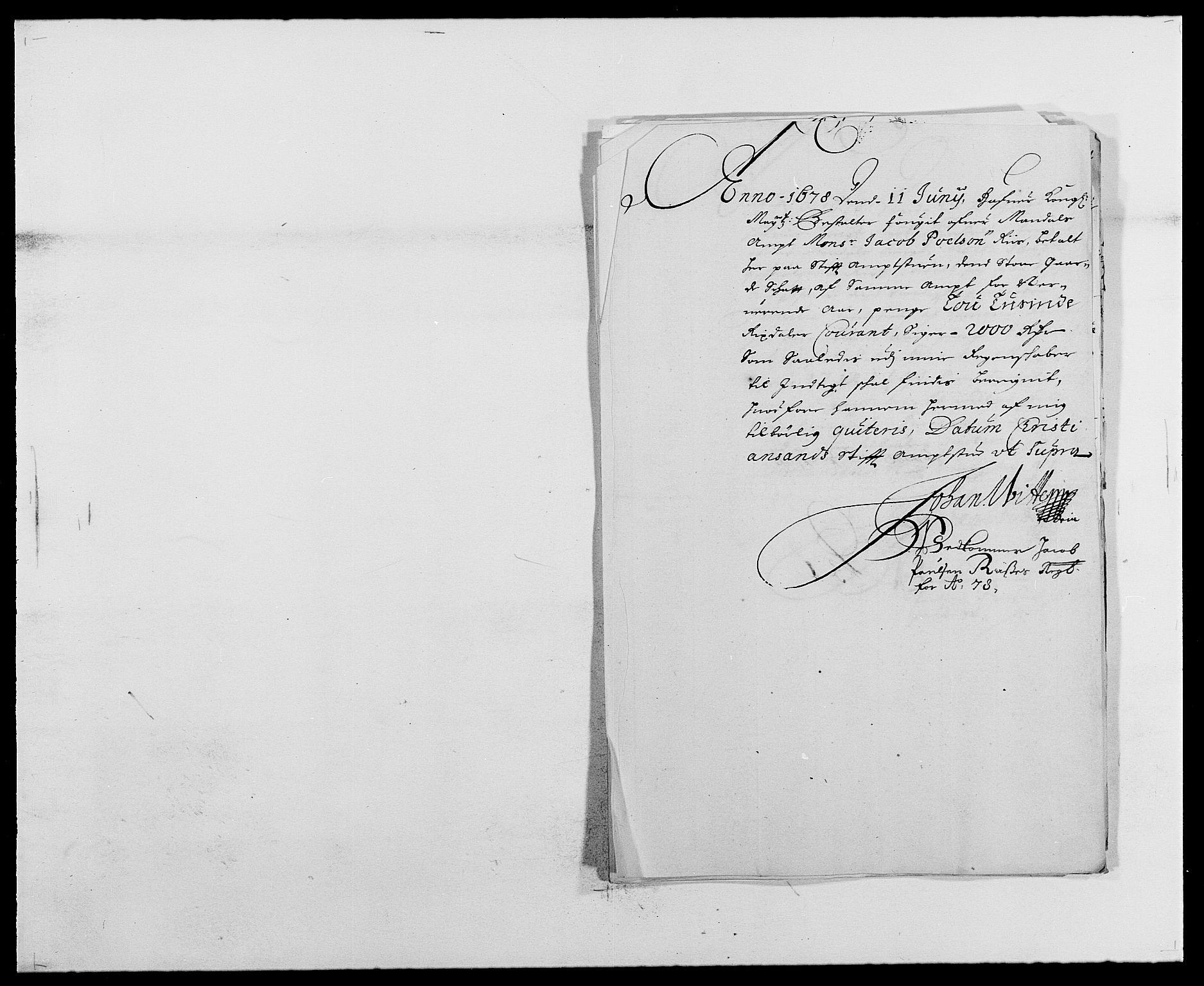 RA, Rentekammeret inntil 1814, Reviderte regnskaper, Fogderegnskap, R42/L2540: Mandal fogderi, 1676-1680, s. 144