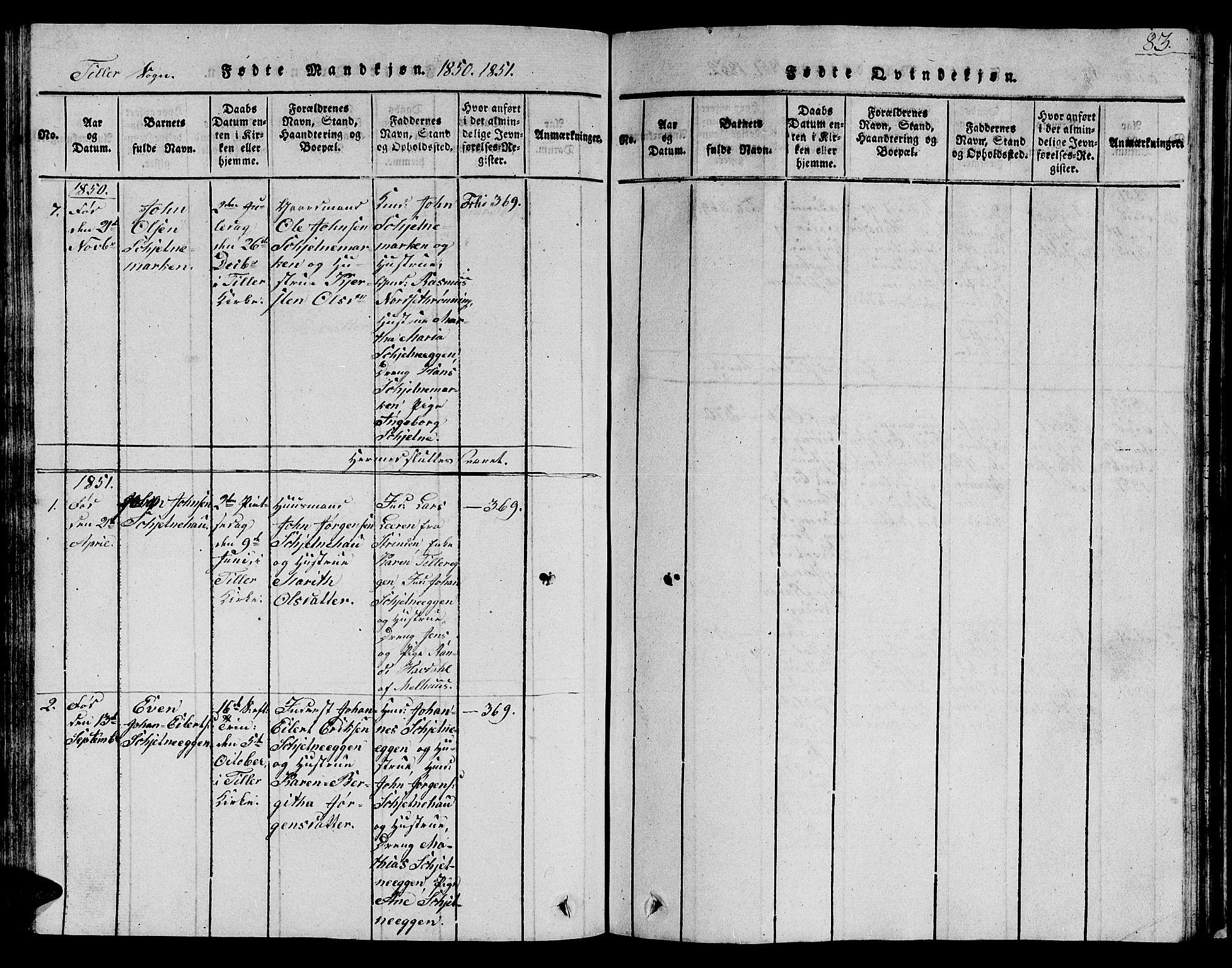 SAT, Ministerialprotokoller, klokkerbøker og fødselsregistre - Sør-Trøndelag, 621/L0458: Klokkerbok nr. 621C01, 1816-1865, s. 83