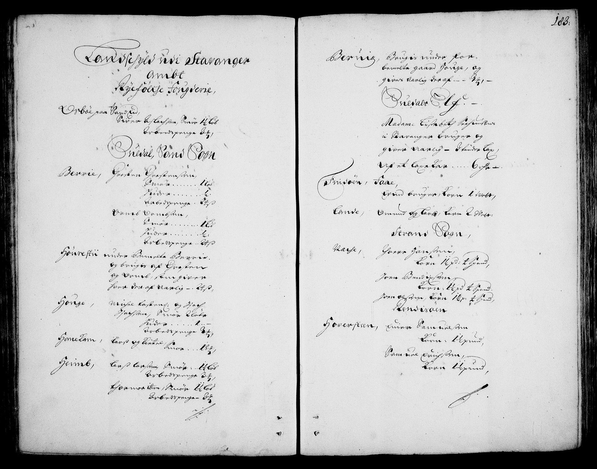 RA, Rentekammeret inntil 1814, Realistisk ordnet avdeling, On/L0002: [Jj 3]: Besiktigelsesforretninger over Halsnøy klosters gods, 1659-1703, s. 182b-183a