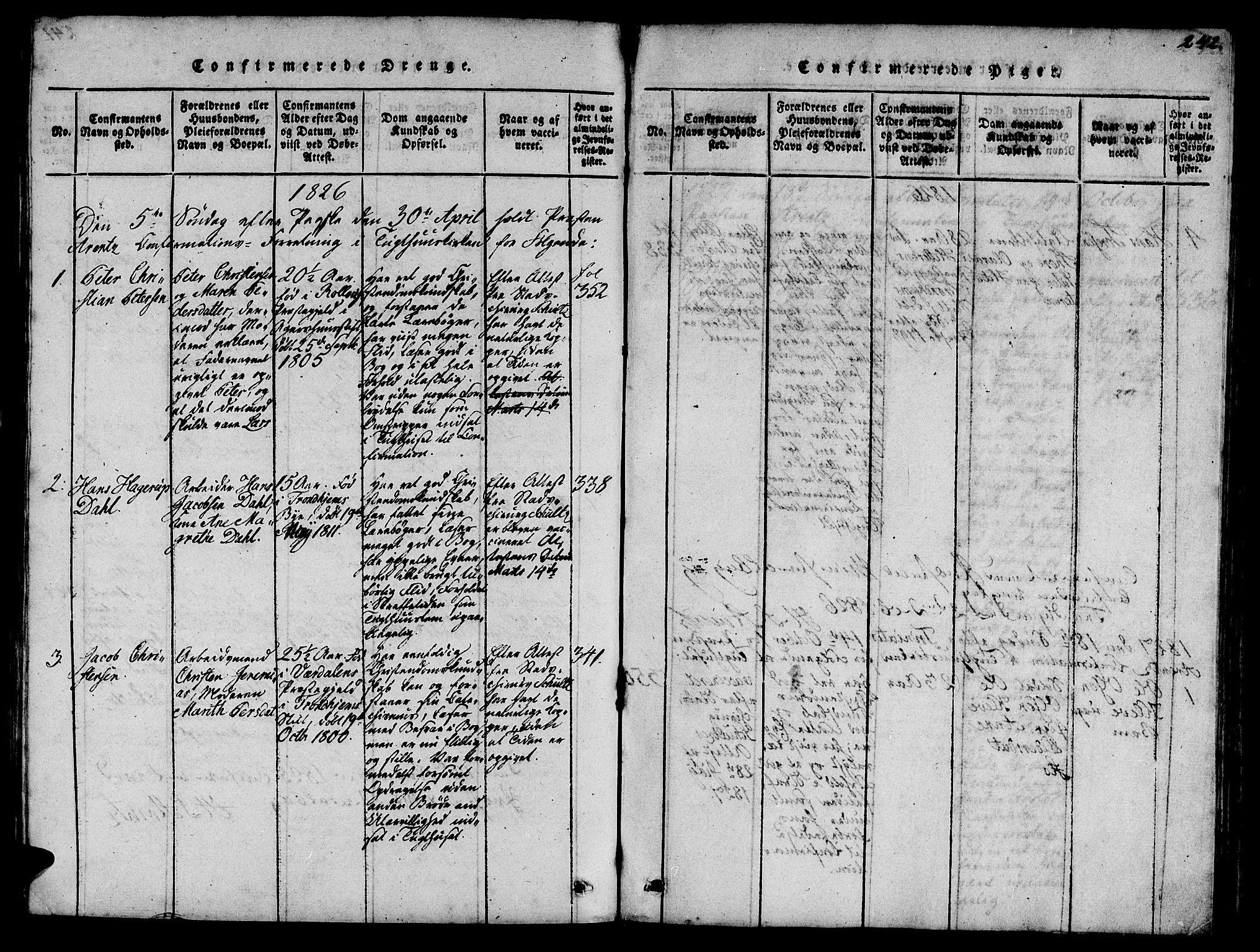 SAT, Ministerialprotokoller, klokkerbøker og fødselsregistre - Sør-Trøndelag, 623/L0478: Klokkerbok nr. 623C01, 1815-1873, s. 242