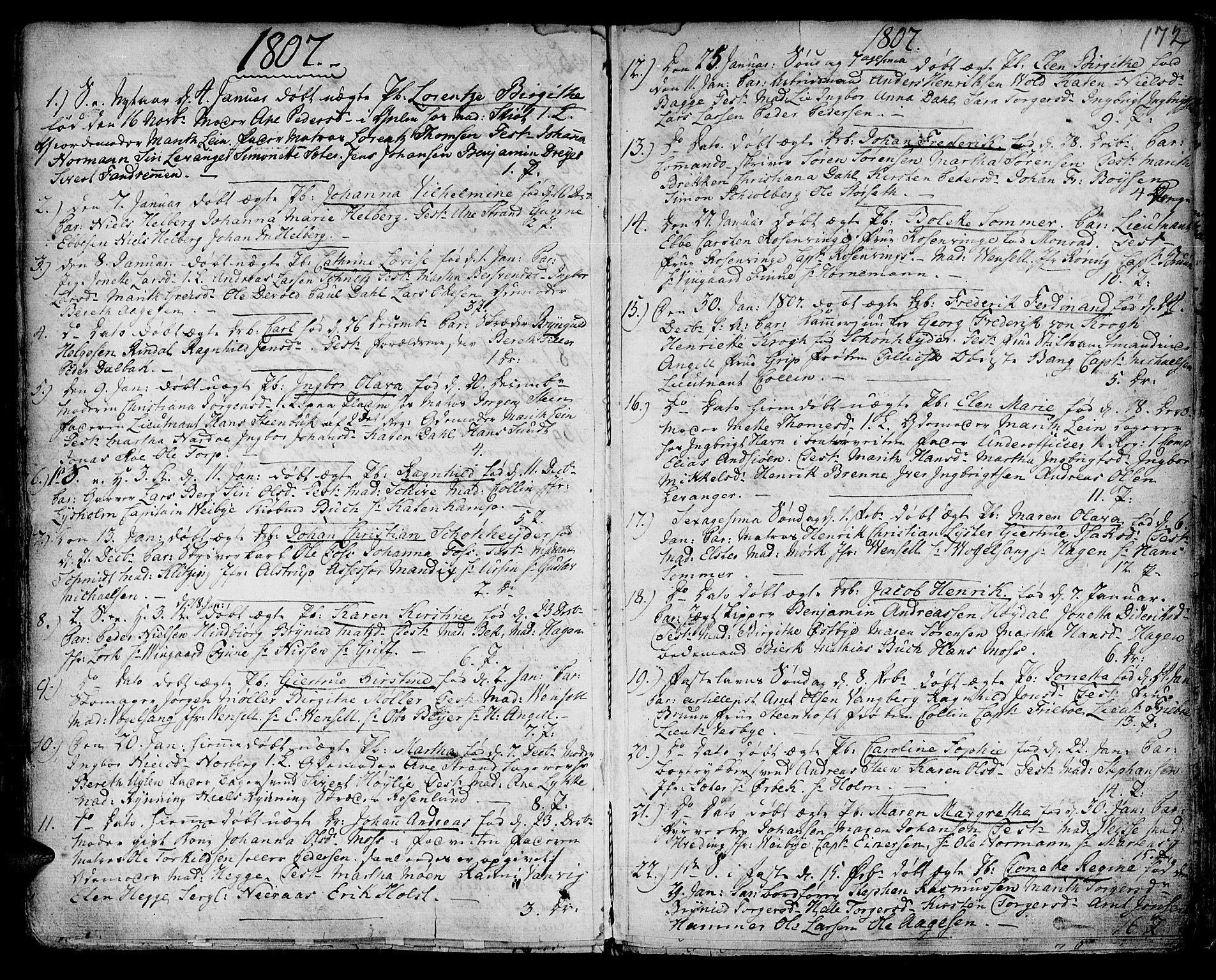 SAT, Ministerialprotokoller, klokkerbøker og fødselsregistre - Sør-Trøndelag, 601/L0039: Ministerialbok nr. 601A07, 1770-1819, s. 172