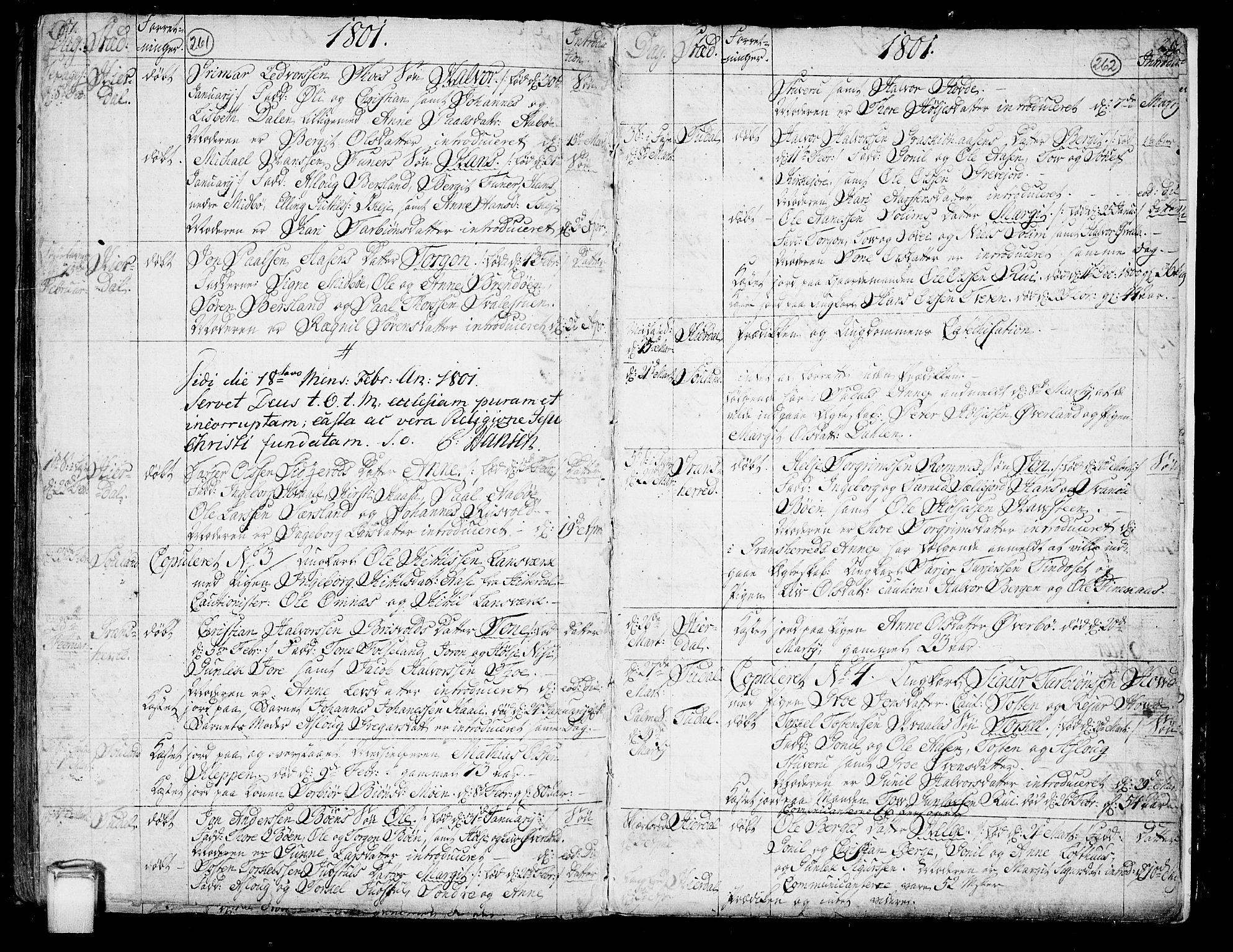 SAKO, Hjartdal kirkebøker, F/Fa/L0005: Ministerialbok nr. I 5, 1776-1801, s. 261-262