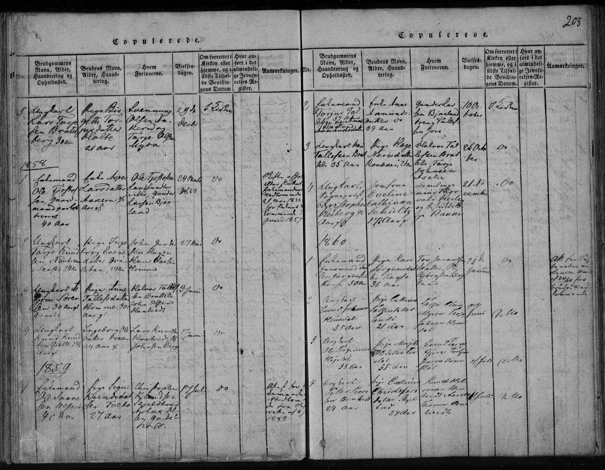 SAKO, Lårdal kirkebøker, F/Fa/L0005: Ministerialbok nr. I 5, 1815-1860, s. 208