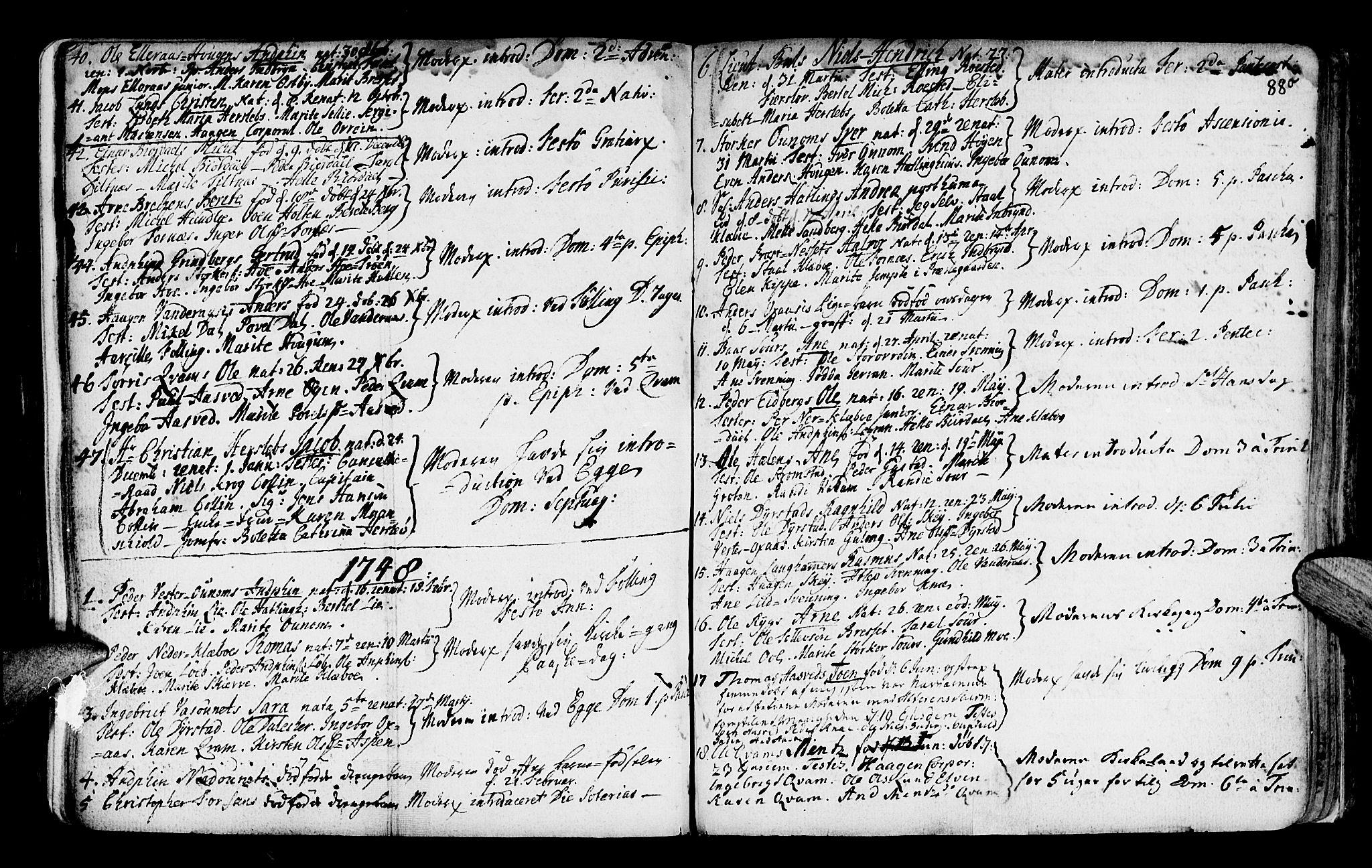SAT, Ministerialprotokoller, klokkerbøker og fødselsregistre - Nord-Trøndelag, 746/L0439: Ministerialbok nr. 746A01, 1688-1759, s. 88o